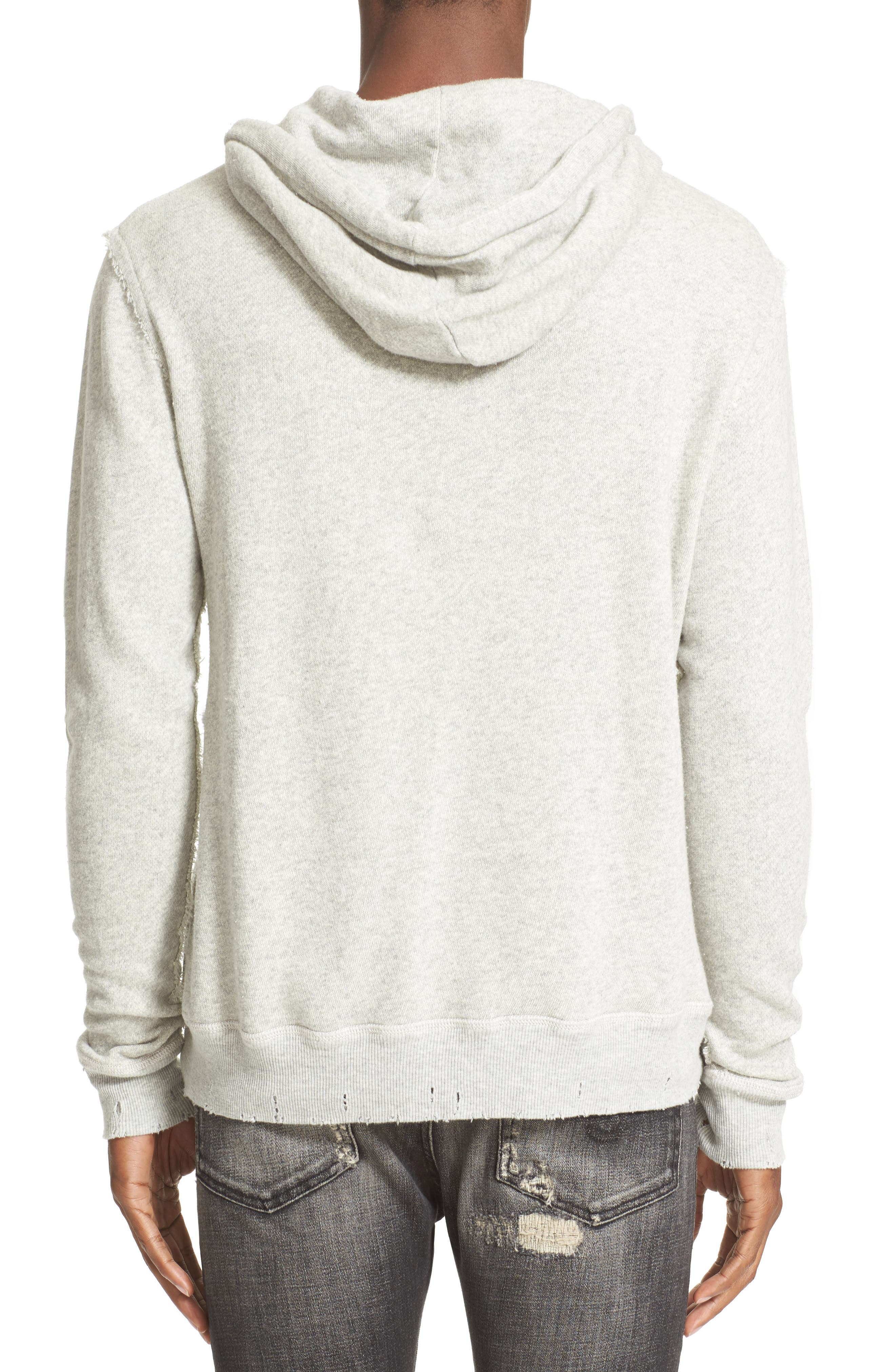 Spliced Hoodie,                             Alternate thumbnail 2, color,                             HEATHER GREY