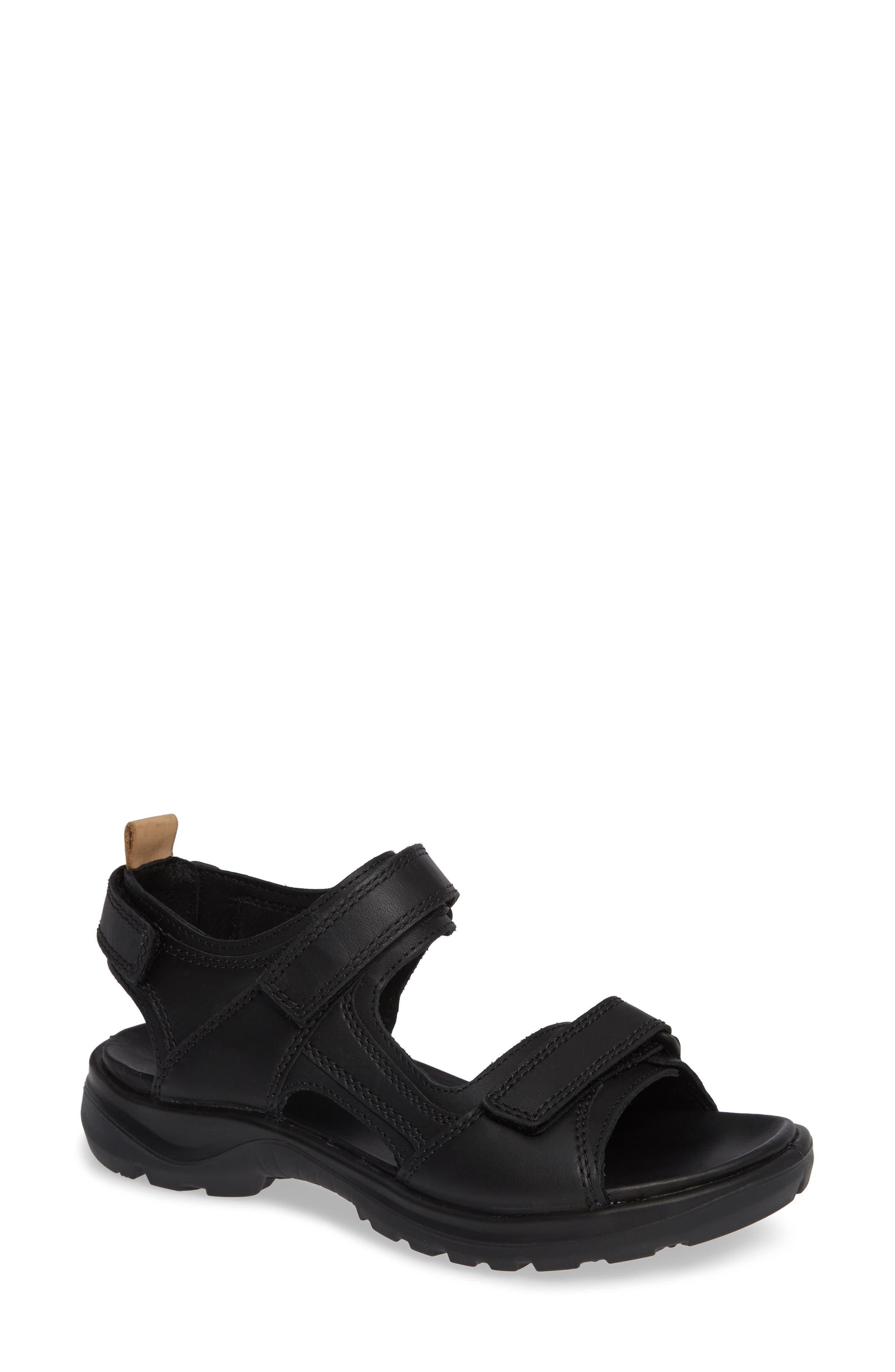 Premium Offroad Sandal,                             Main thumbnail 1, color,                             BLACK NUBUCK LEATHER