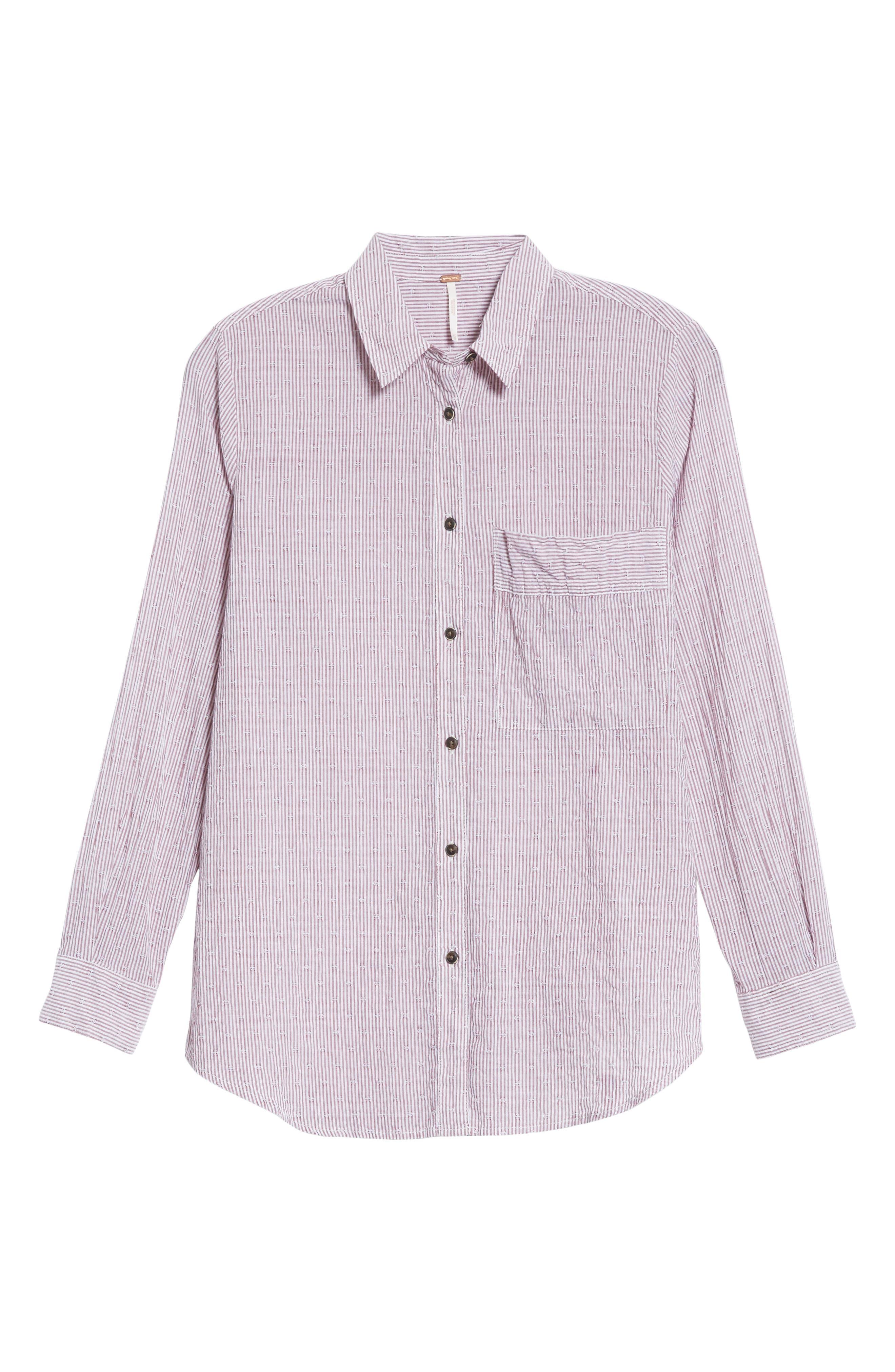 No Limits Stripe Stretch Cotton Shirt,                             Alternate thumbnail 12, color,