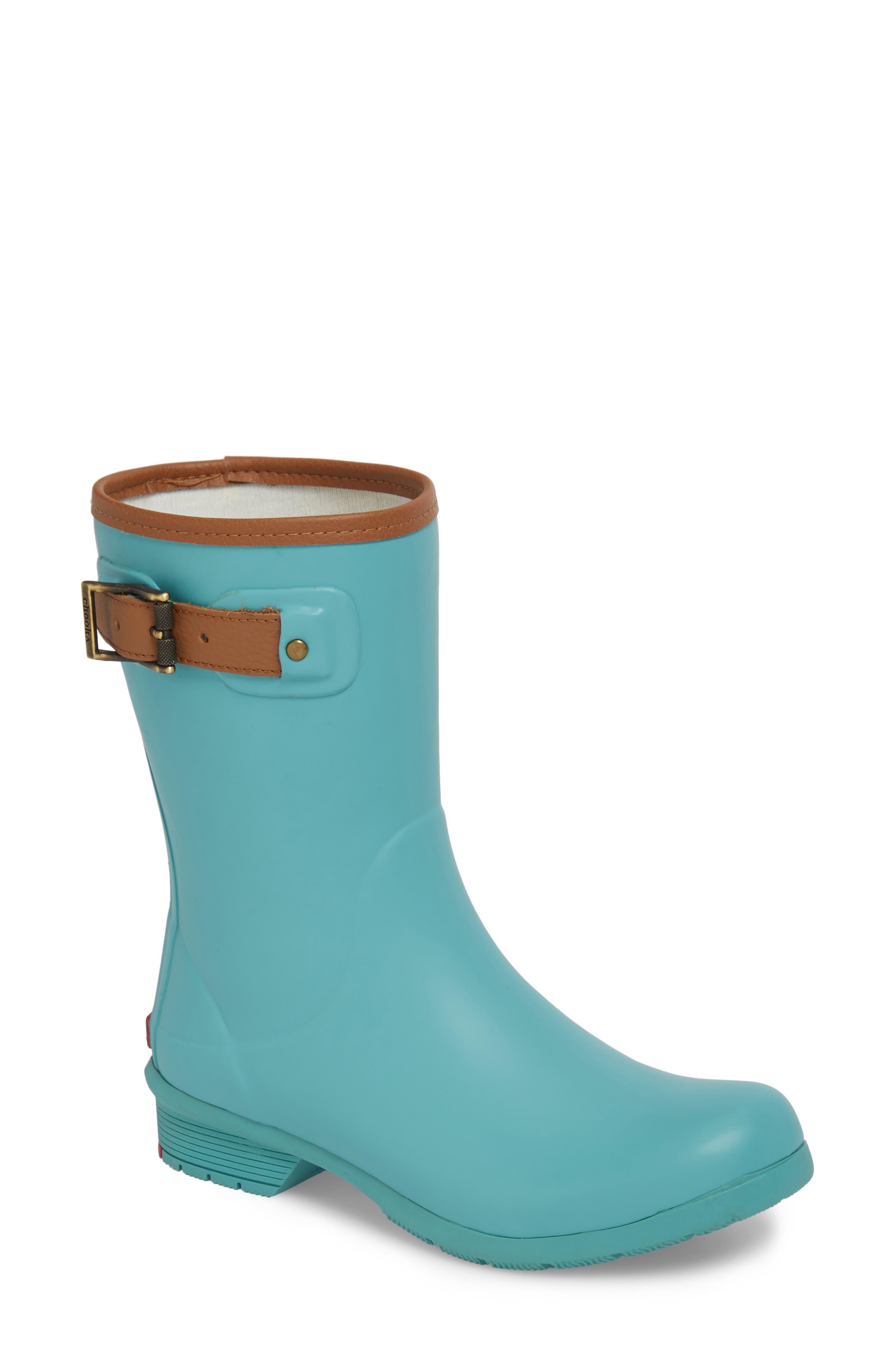 City Solid Mid Height Rain Boot,                         Main,                         color, AQUA