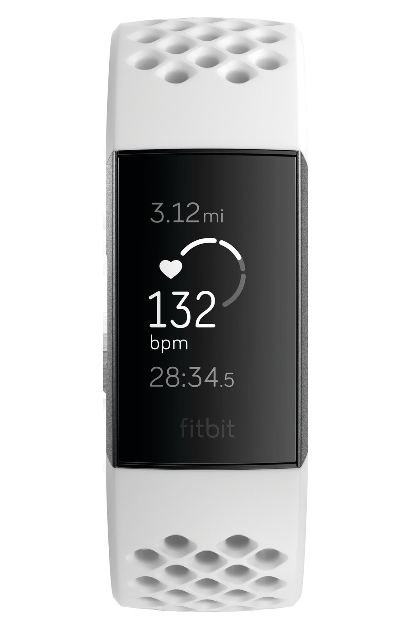 Charge 3 Special Edition Wireless Activity & Heart Rate Tracker, Main, color, WHITE
