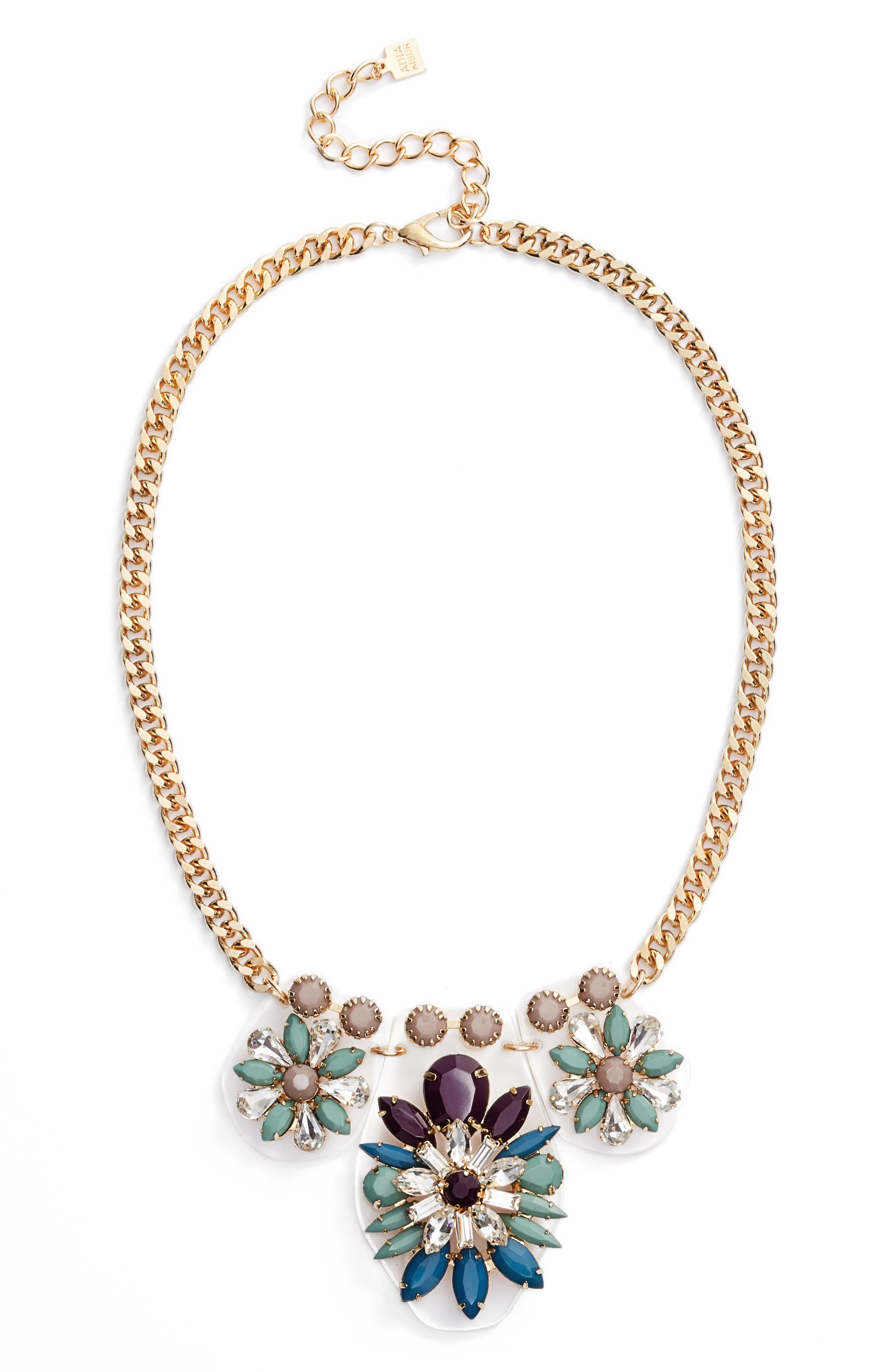 Cluster Statement Necklace,                             Main thumbnail 1, color,                             430