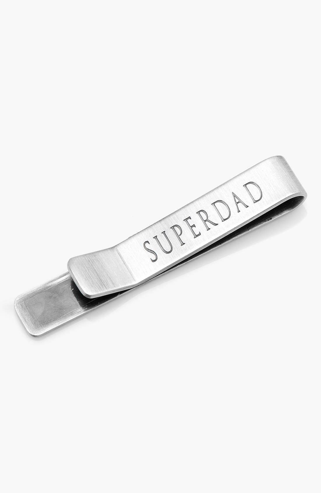 'Superdad' Tie Bar,                         Main,                         color, SILVER
