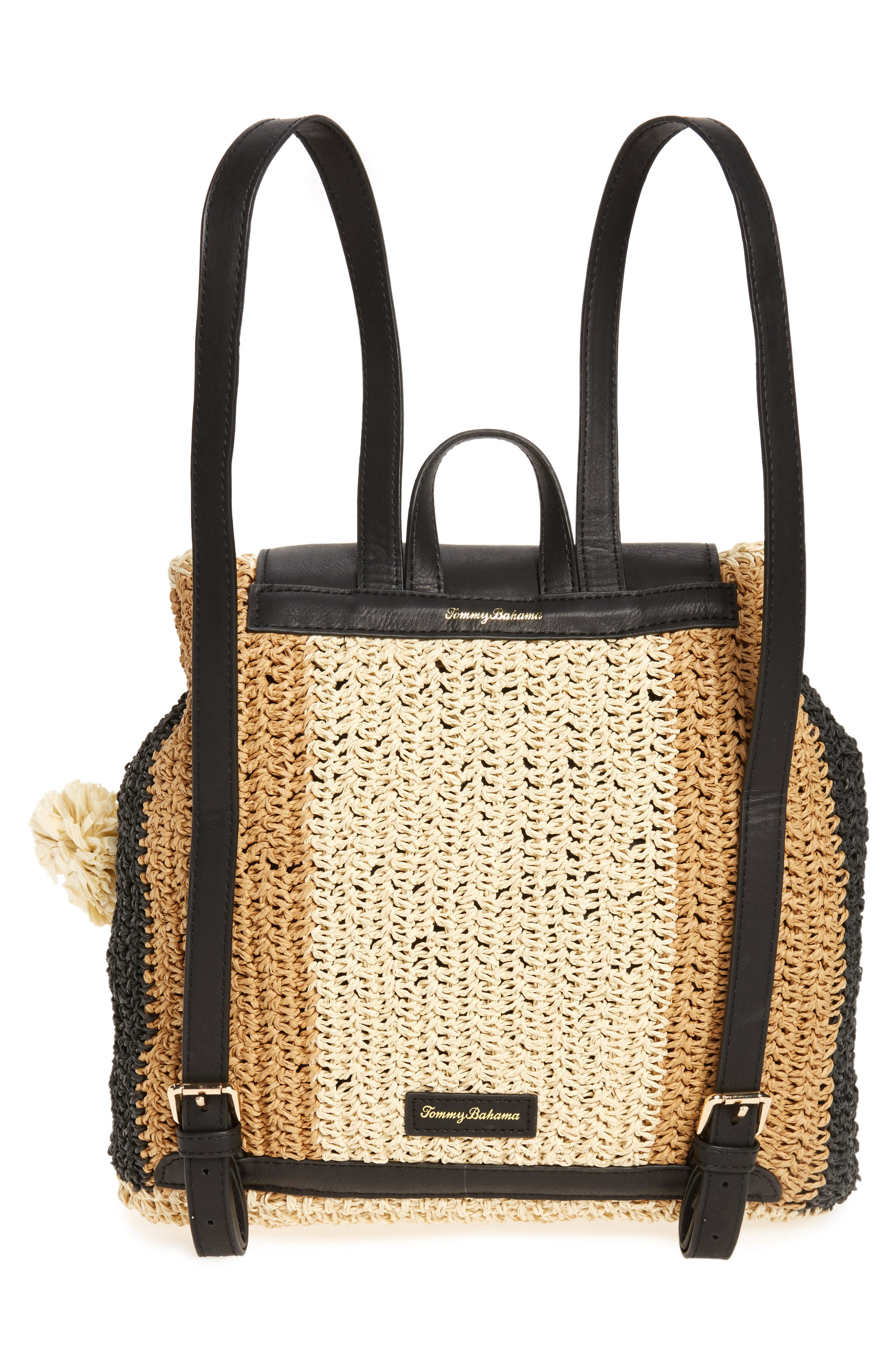 Bahama Mama Straw Backpack,                             Alternate thumbnail 3, color,                             001