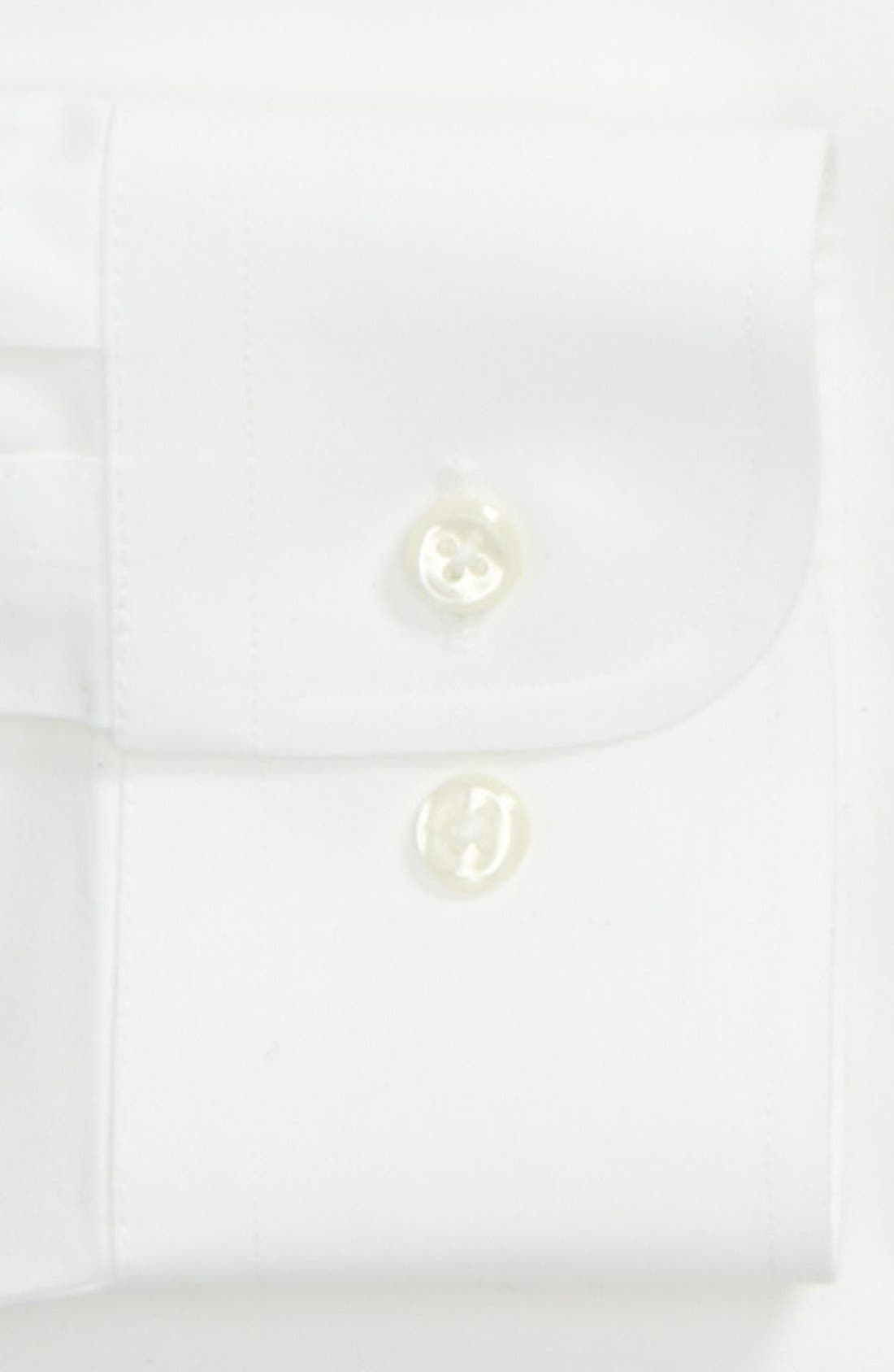 Smartcare<sup>™</sup> Trim Fit Solid Dress Shirt,                             Alternate thumbnail 4, color,                             100