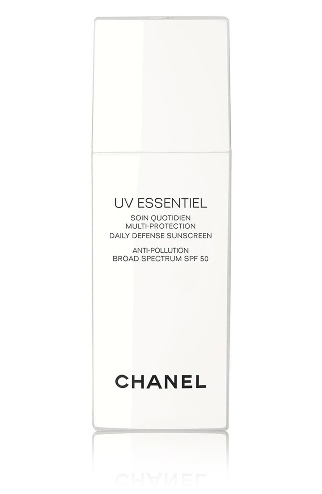 UV ESSENTIEL<br />Multi-Protection Daily Defense Sunscreen Anti-Pollution Broad Spectrum SPF 50,                             Main thumbnail 1, color,                             NO COLOR