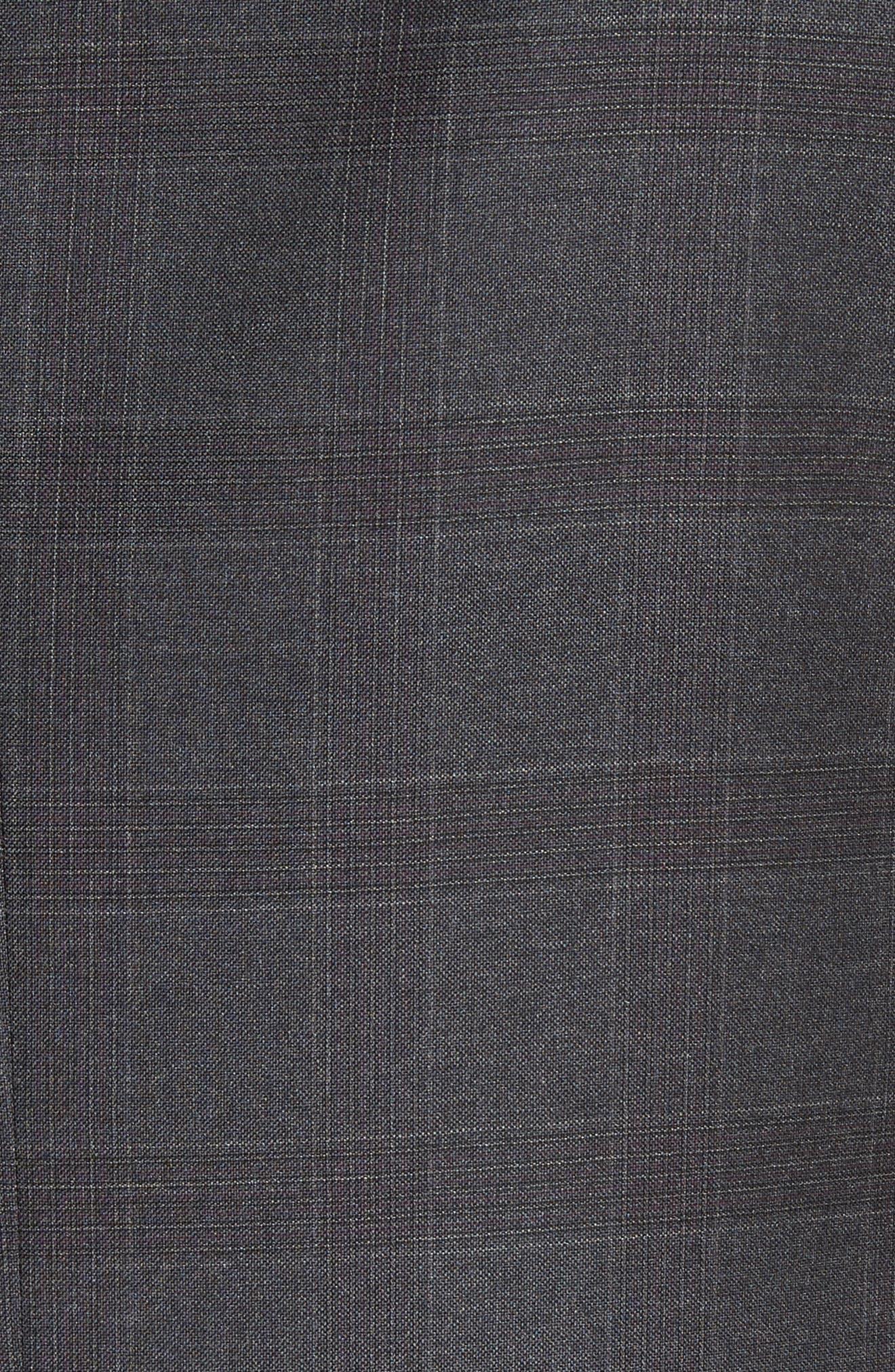 G-Line Trim Fit Plaid Wool Suit,                             Alternate thumbnail 7, color,                             038