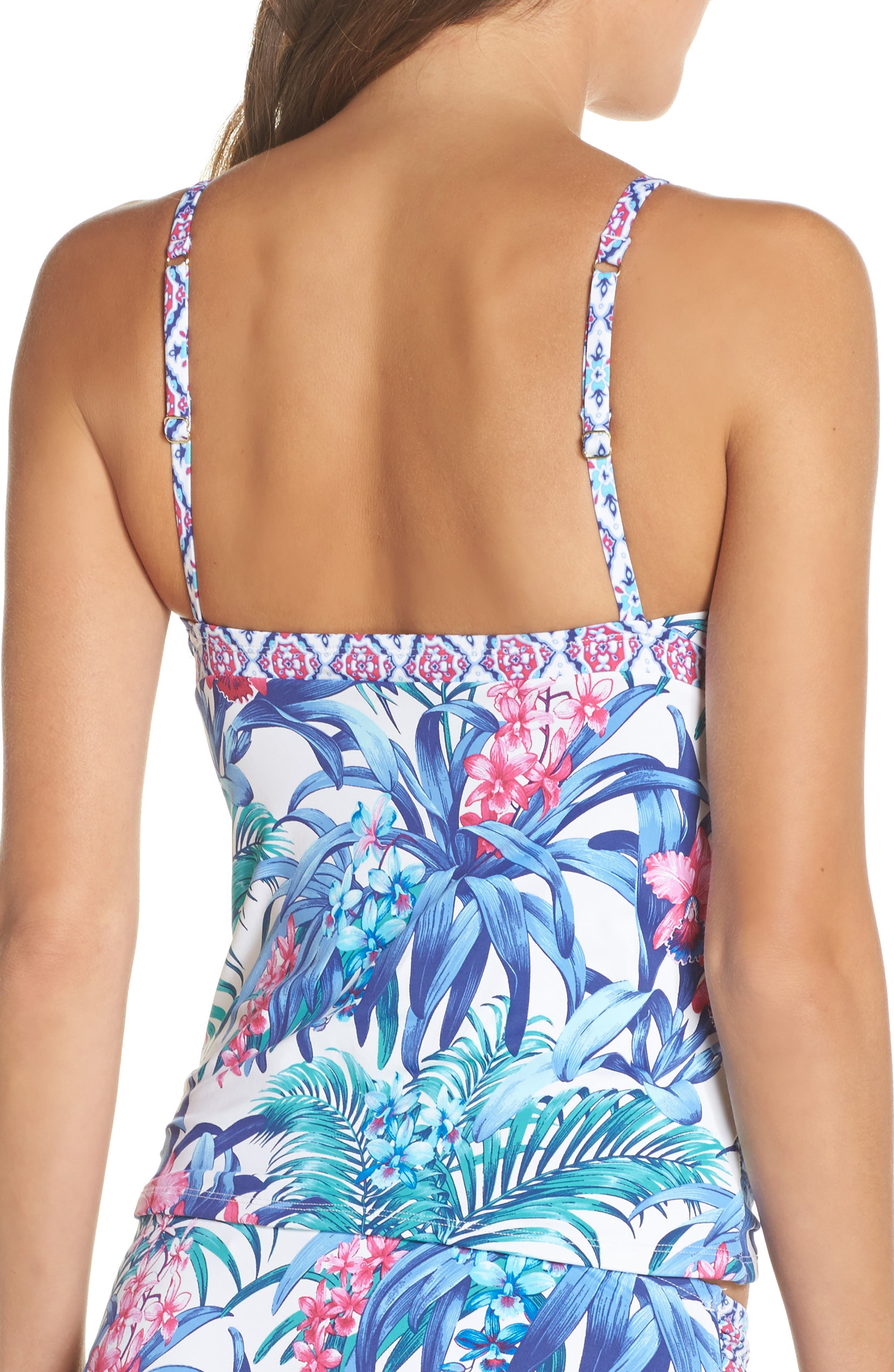 Majorelle Tankini Top,                             Alternate thumbnail 2, color,                             100