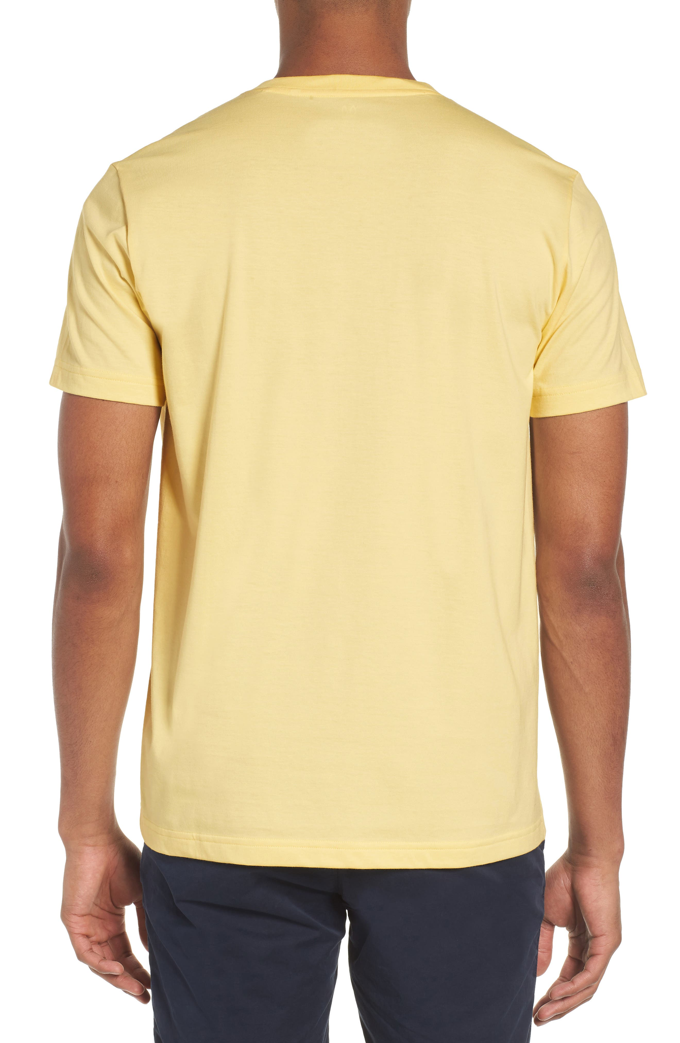 V-Neck T-Shirt,                             Alternate thumbnail 2, color,                             BANANA