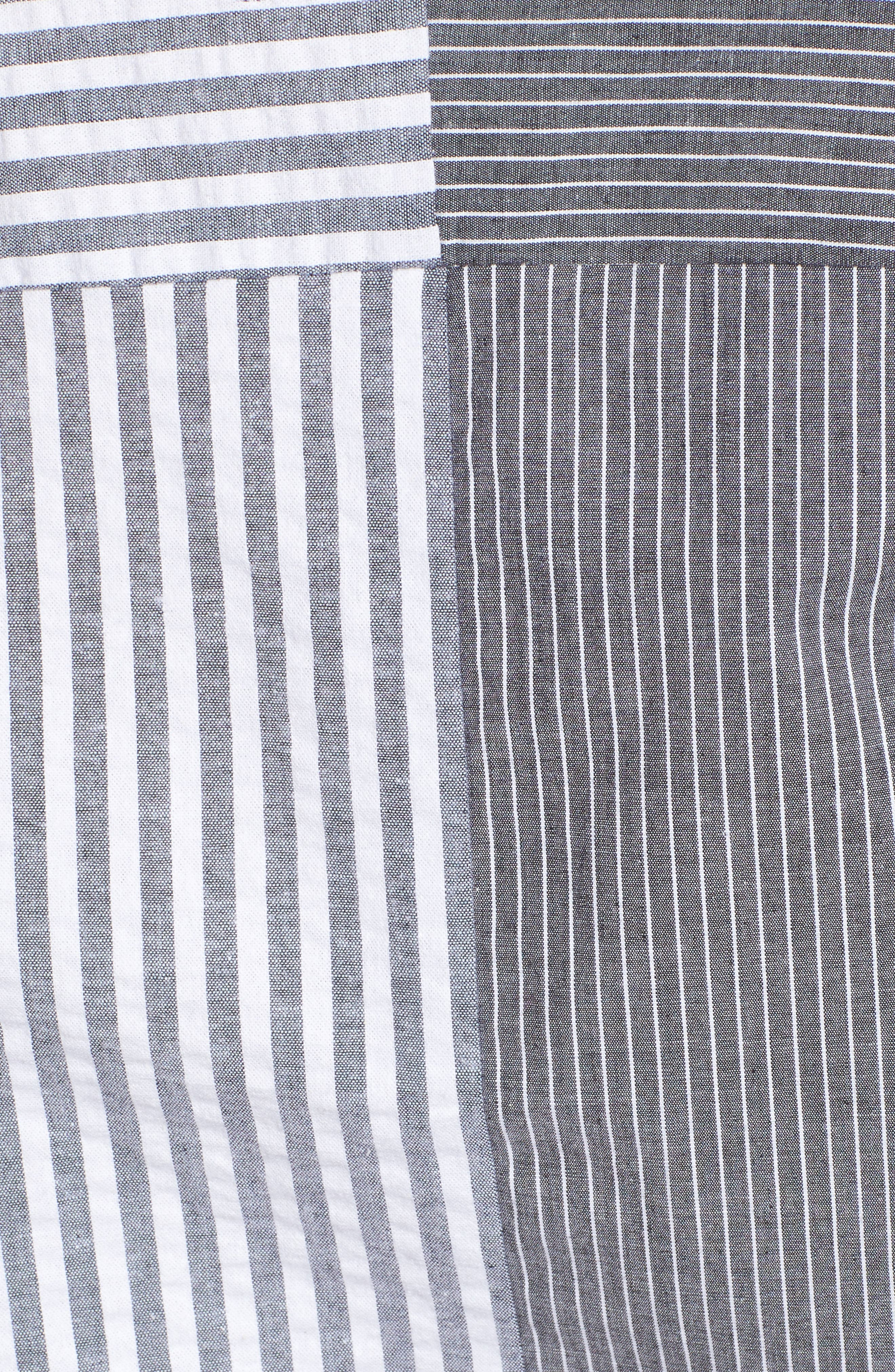 Mismatch Stripe Shirt,                             Alternate thumbnail 5, color,                             020