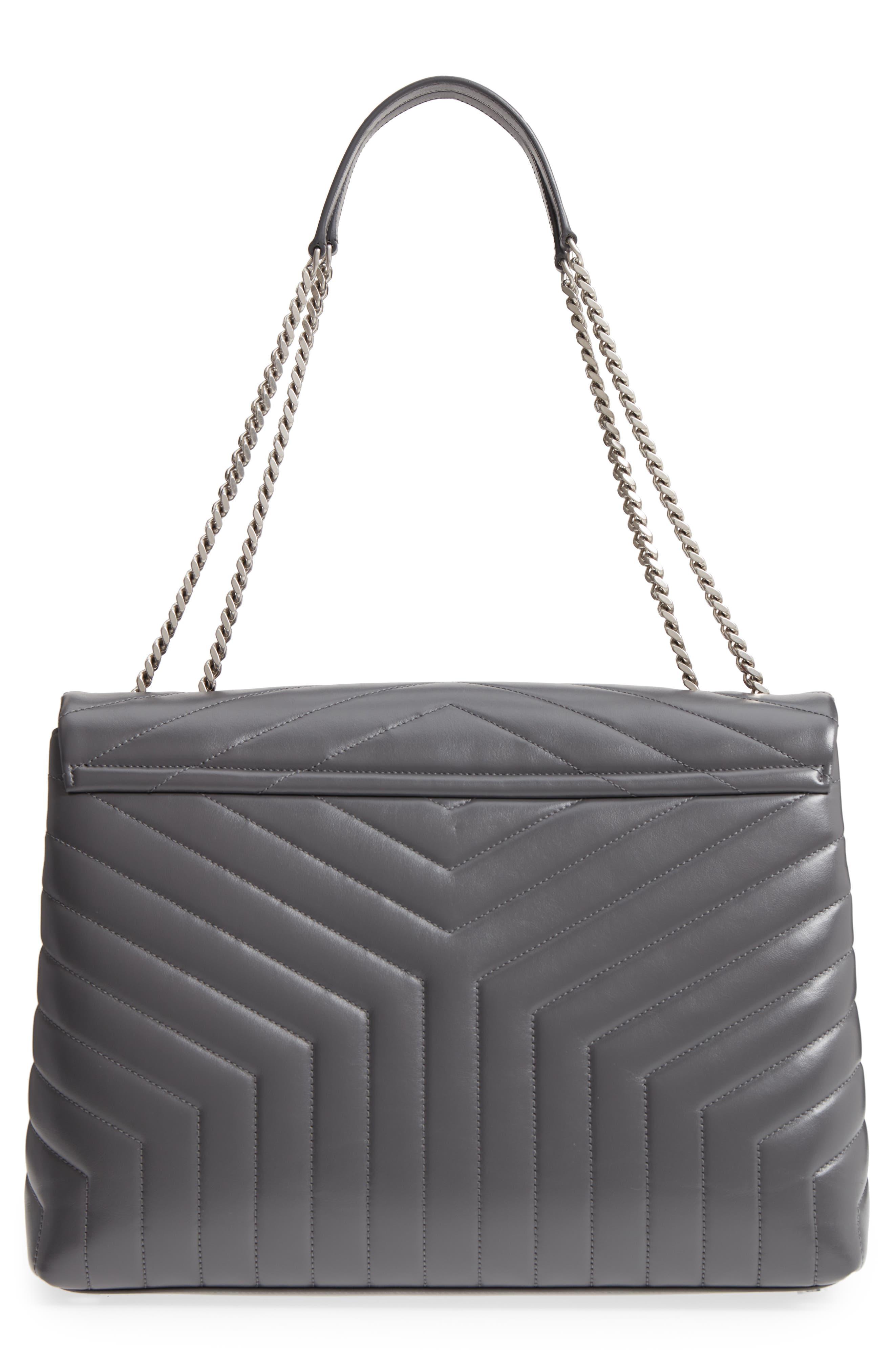 Large Loulou Matelassé Leather Shoulder Bag,                             Alternate thumbnail 3, color,                             STORM/ STORM