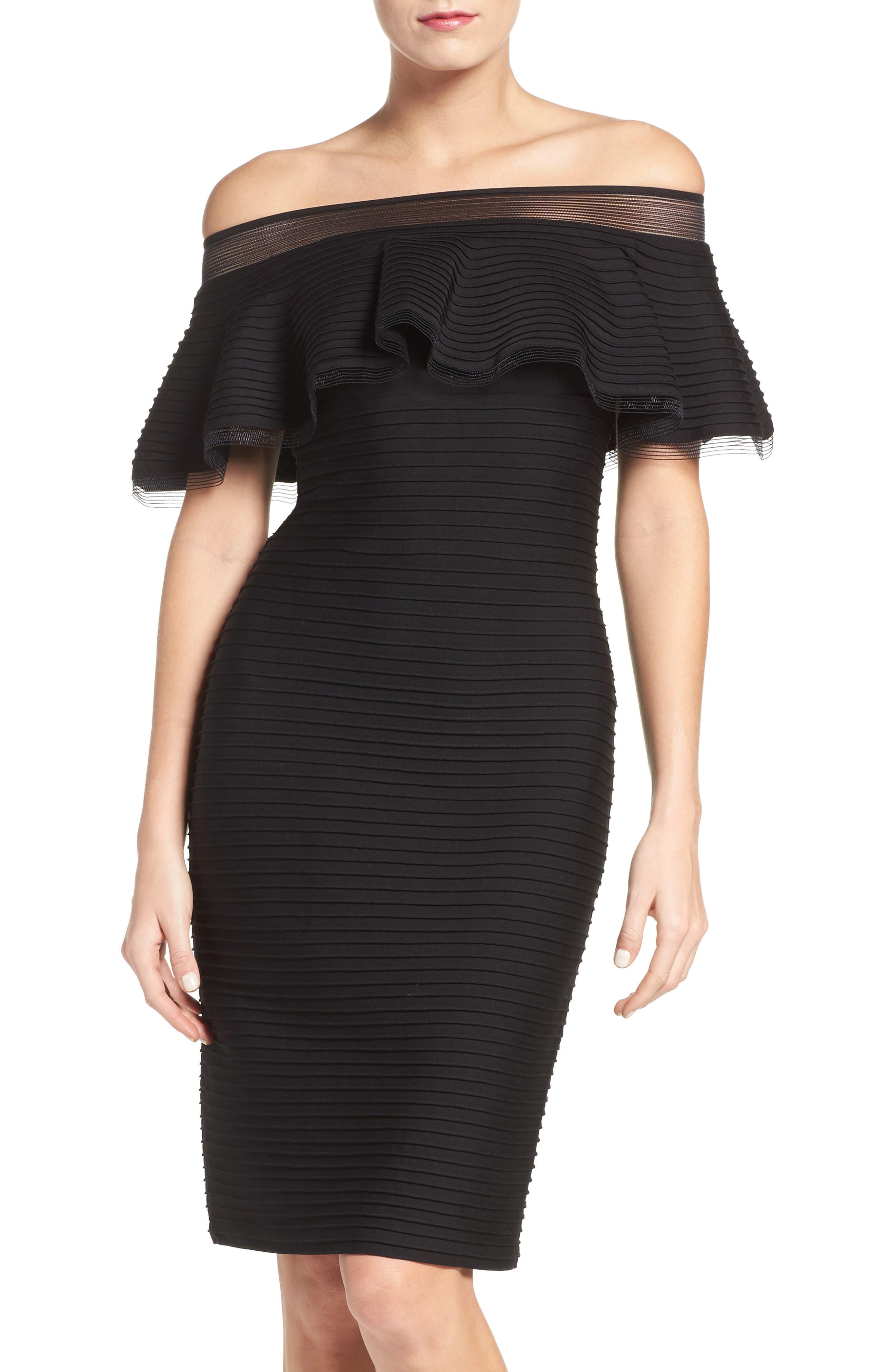Jersey Sheath Dress,                             Main thumbnail 1, color,                             001