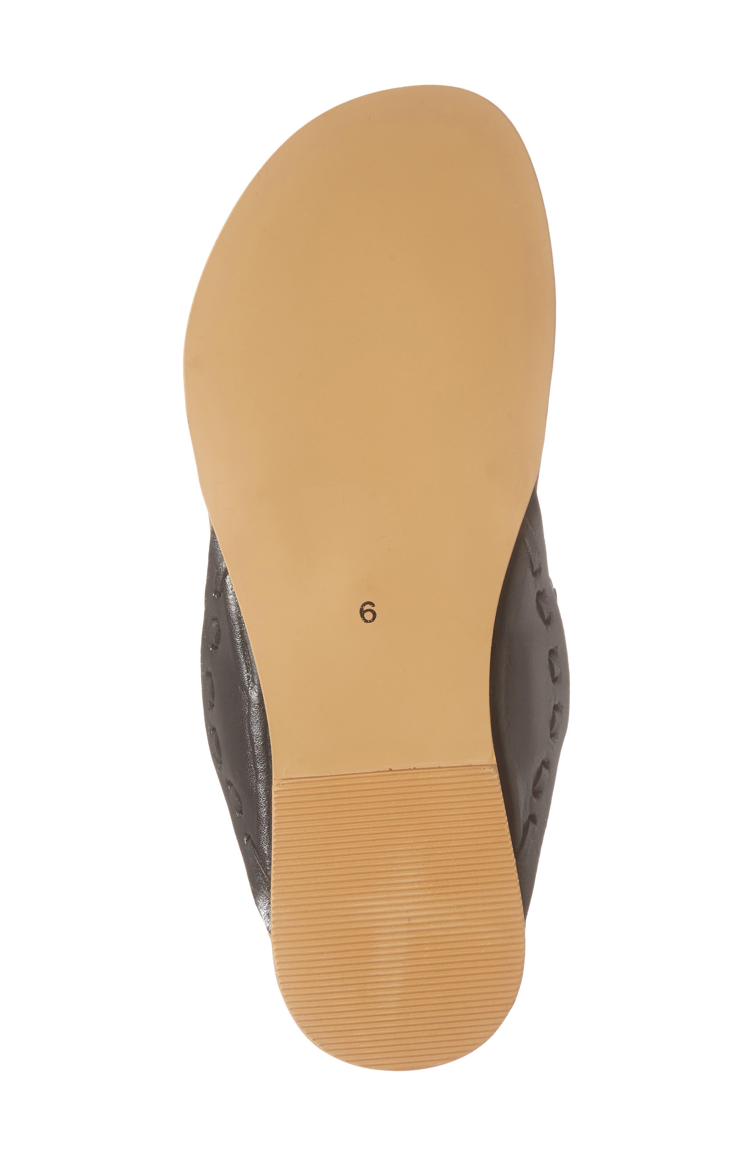 Jada Embellished Slide Sandal,                             Alternate thumbnail 6, color,                             001