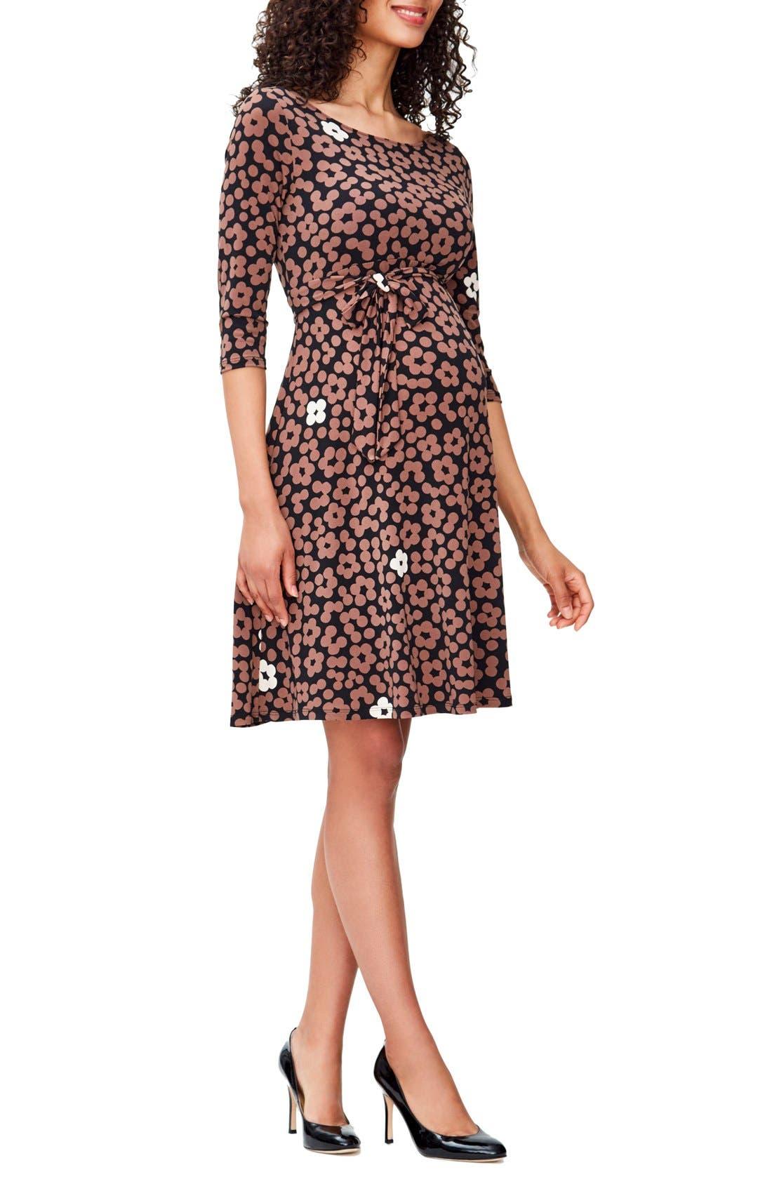'Ilana' Belted Maternity Dress,                             Main thumbnail 2, color,