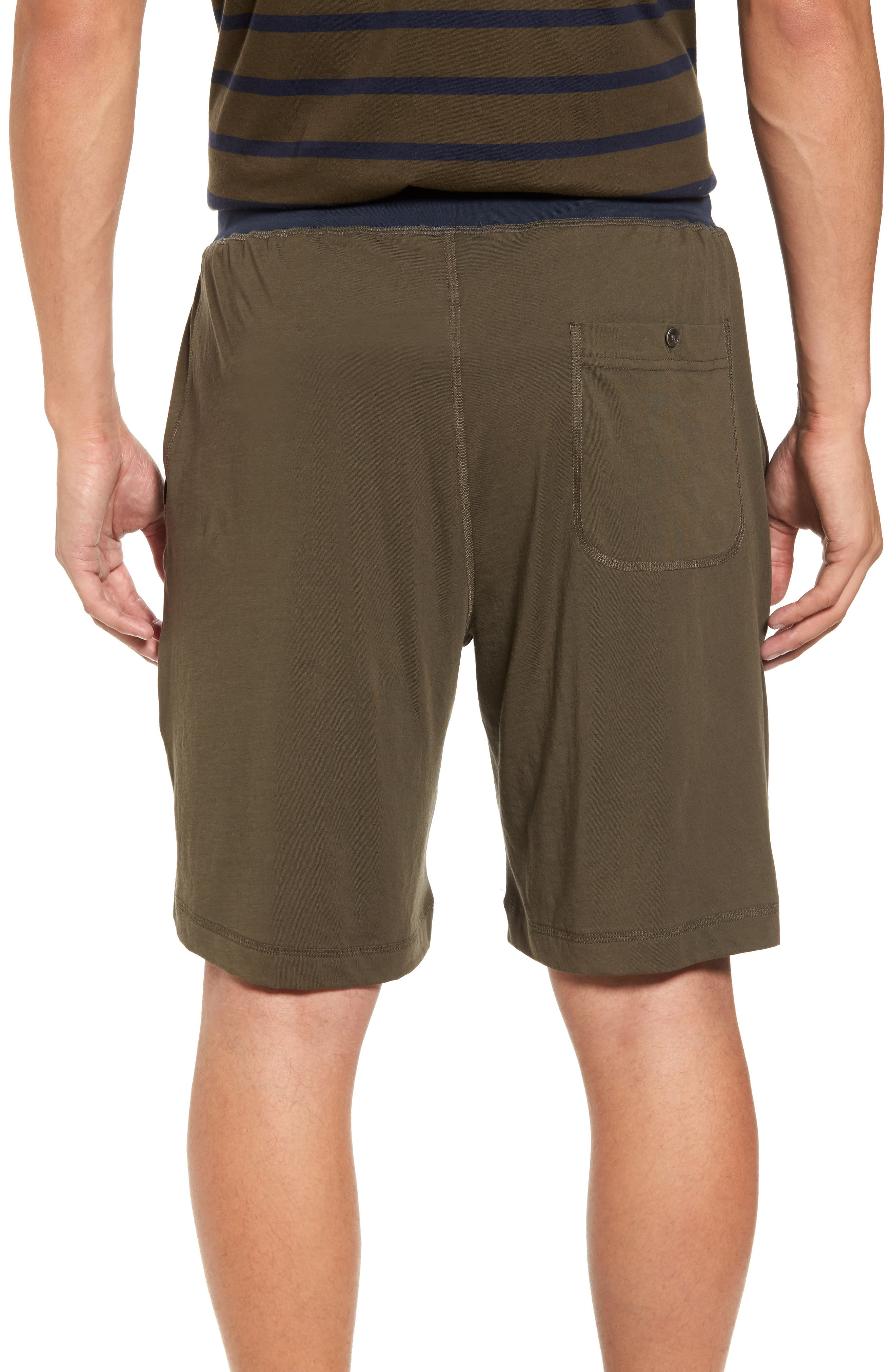 Peruvian Pima Cotton Lounge Shorts,                             Alternate thumbnail 3, color,