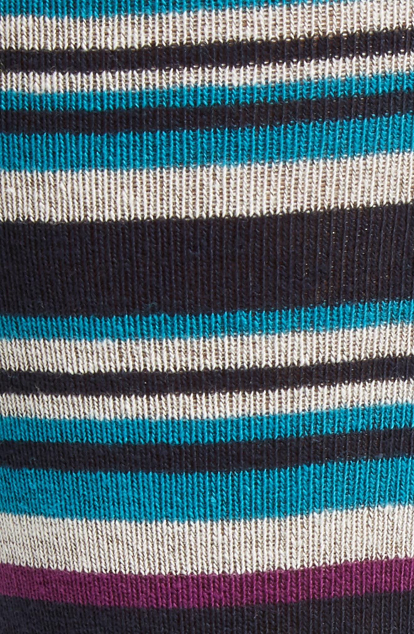Thin Stripe Crew Socks,                             Alternate thumbnail 3, color,