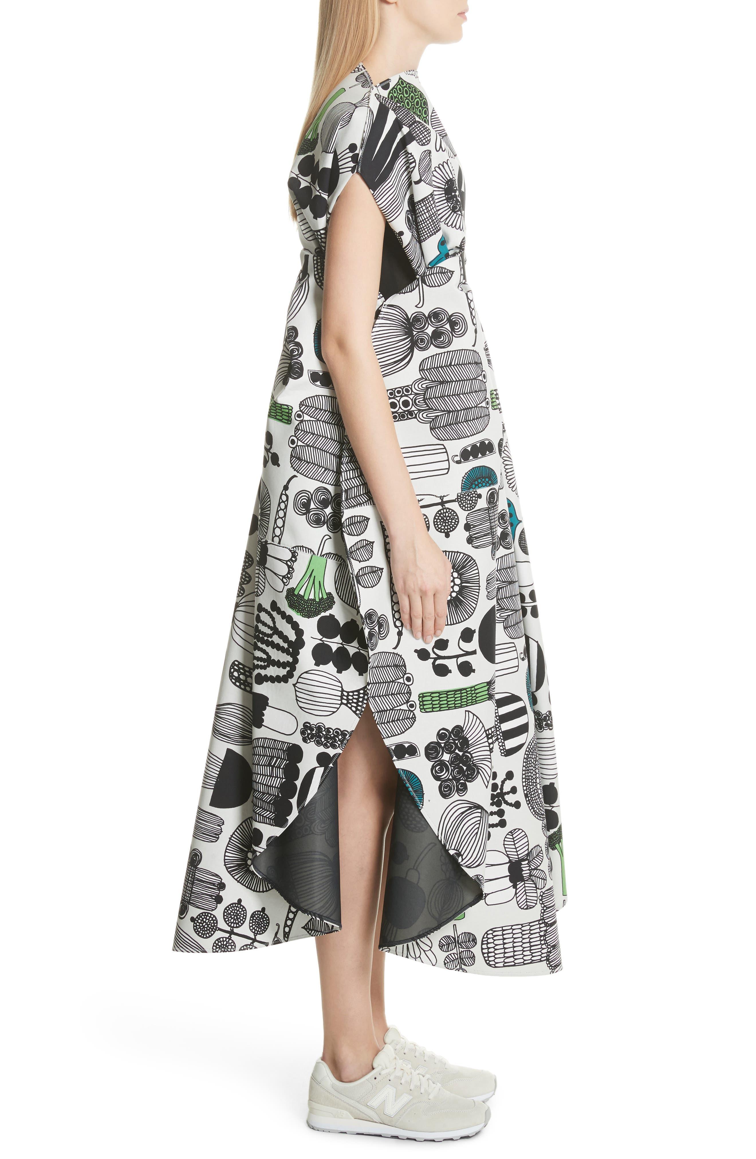 Vegetable Print Shift Dress,                             Alternate thumbnail 3, color,                             020