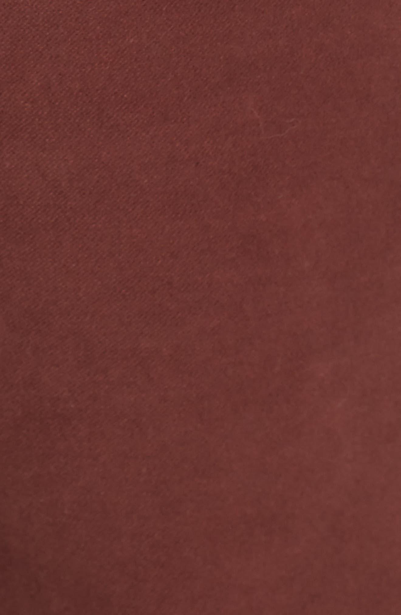 Slim Fit Stretch Cotton Five Pocket Trousers,                             Alternate thumbnail 5, color,                             OCHRE
