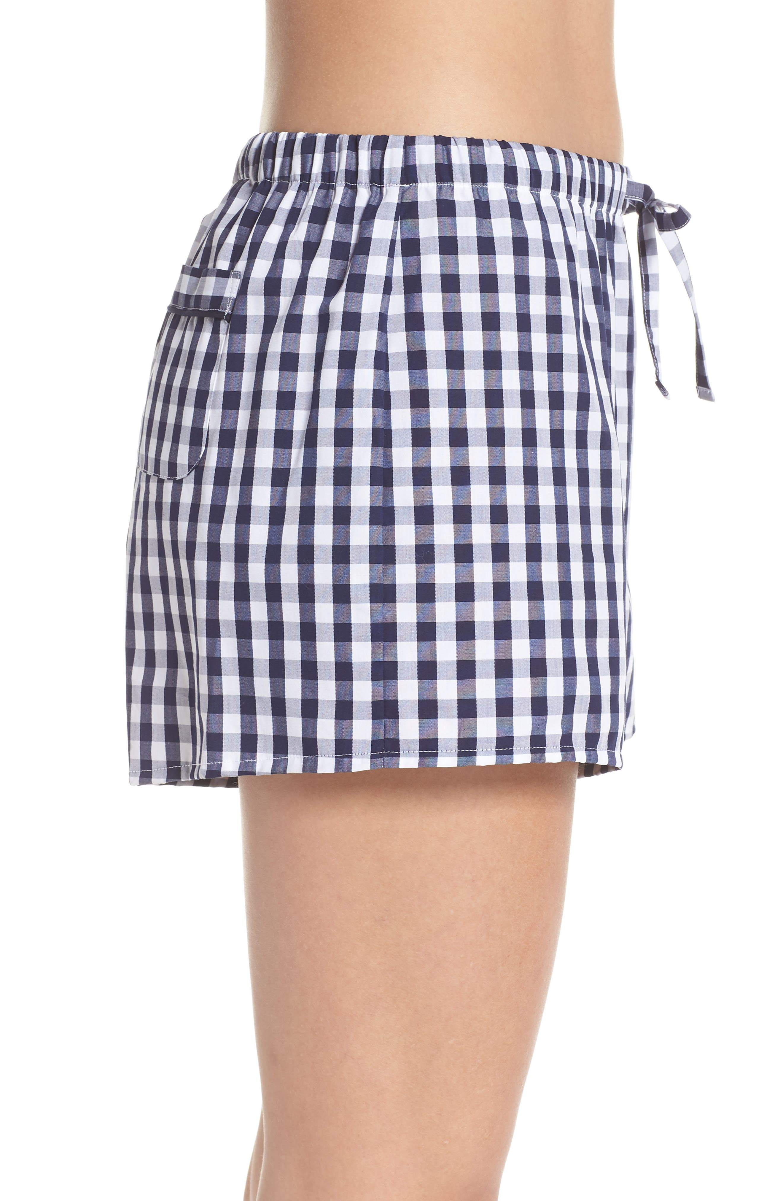 Paloma Women's Pajama Shorts,                             Alternate thumbnail 4, color,                             LARGE GINGHAM BLUE
