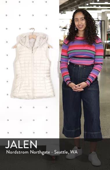 Faux Fur Reversible Hooded Vest, sales video thumbnail