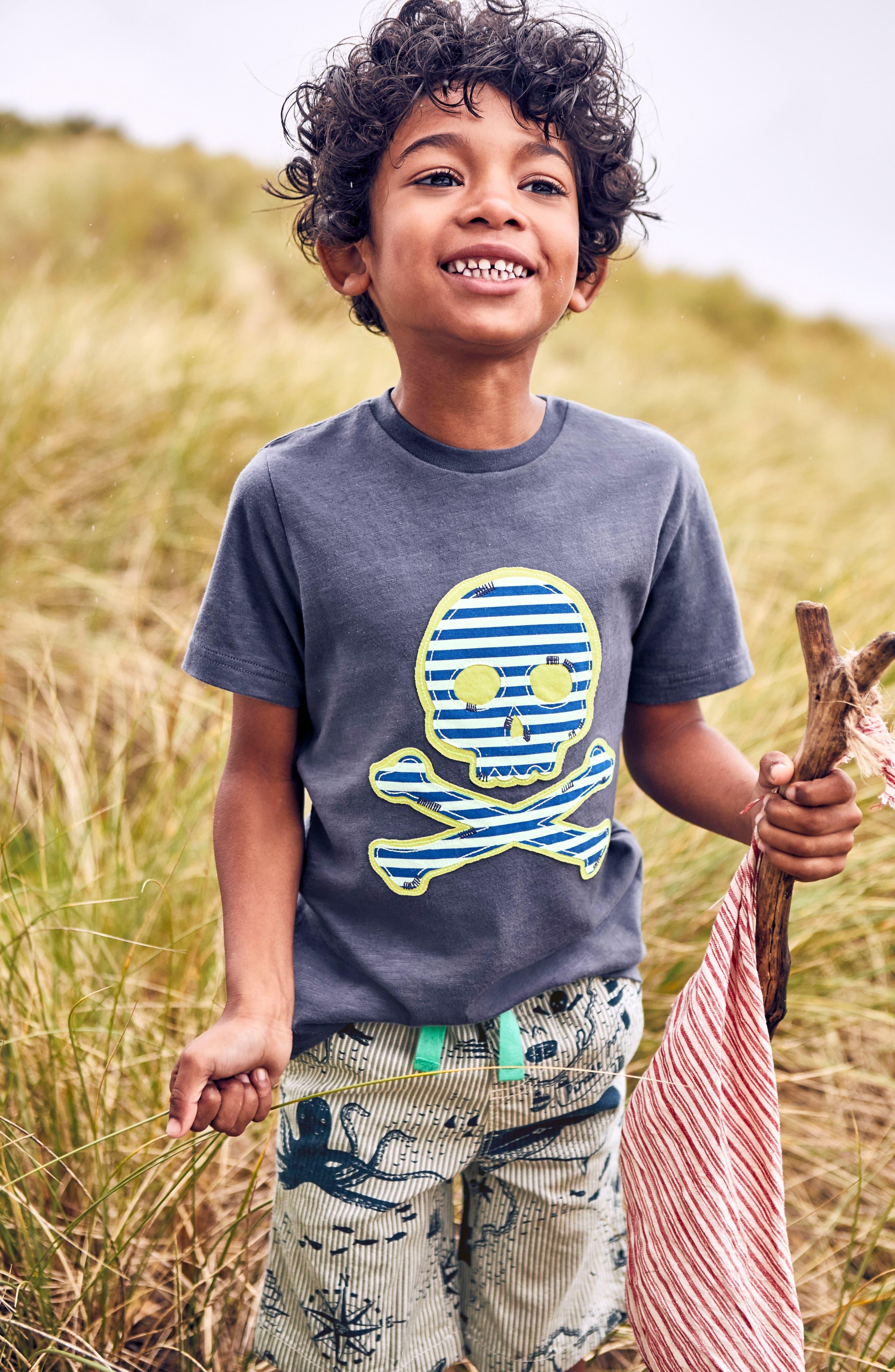 Pirate Appliqué T-Shirt,                             Alternate thumbnail 2, color,                             504