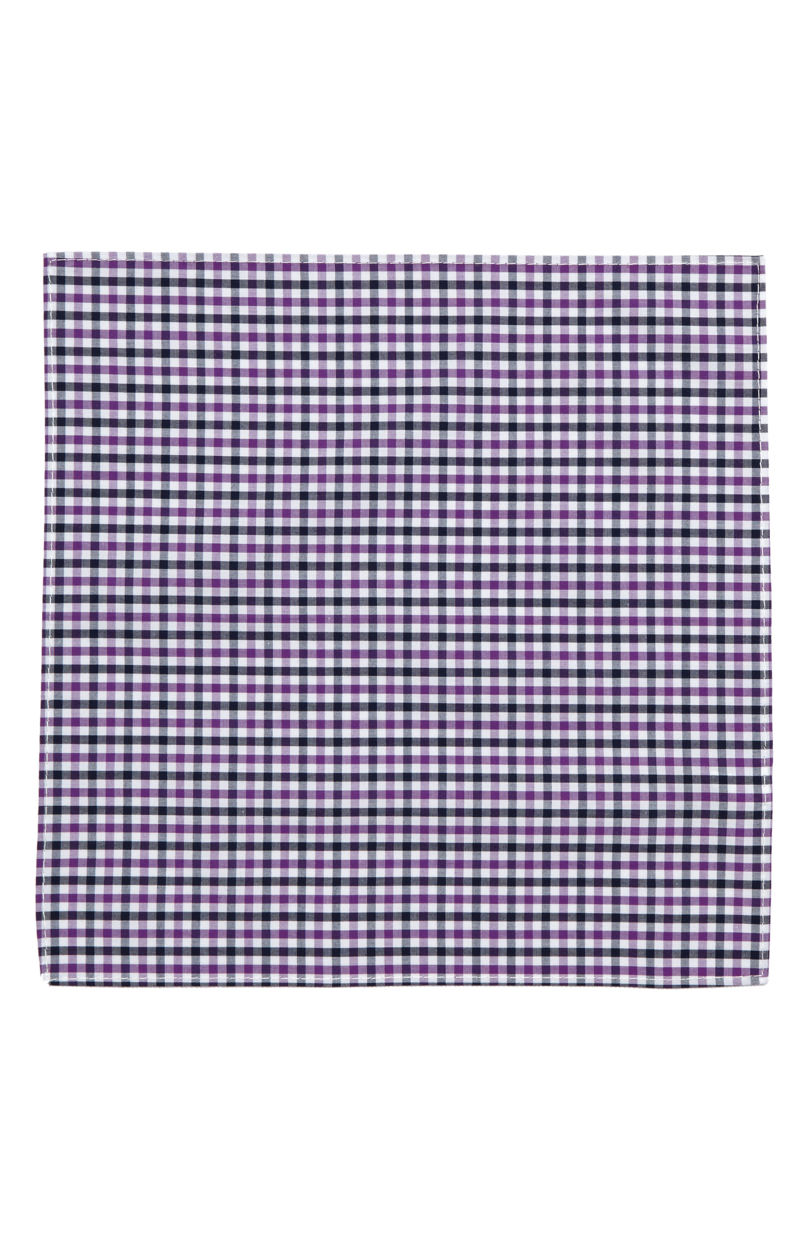Check Silk Pocket Square,                             Alternate thumbnail 2, color,                             602