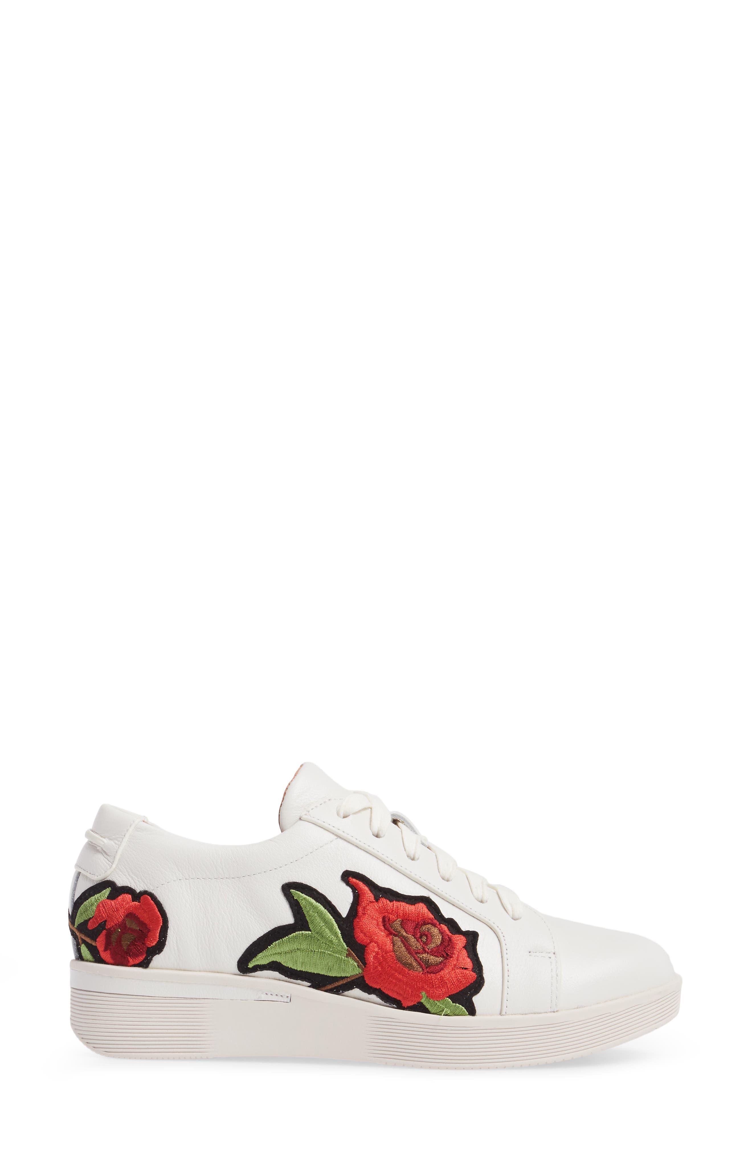 Gentle Soles Haddie Rose Sneaker,                             Alternate thumbnail 3, color,                             110