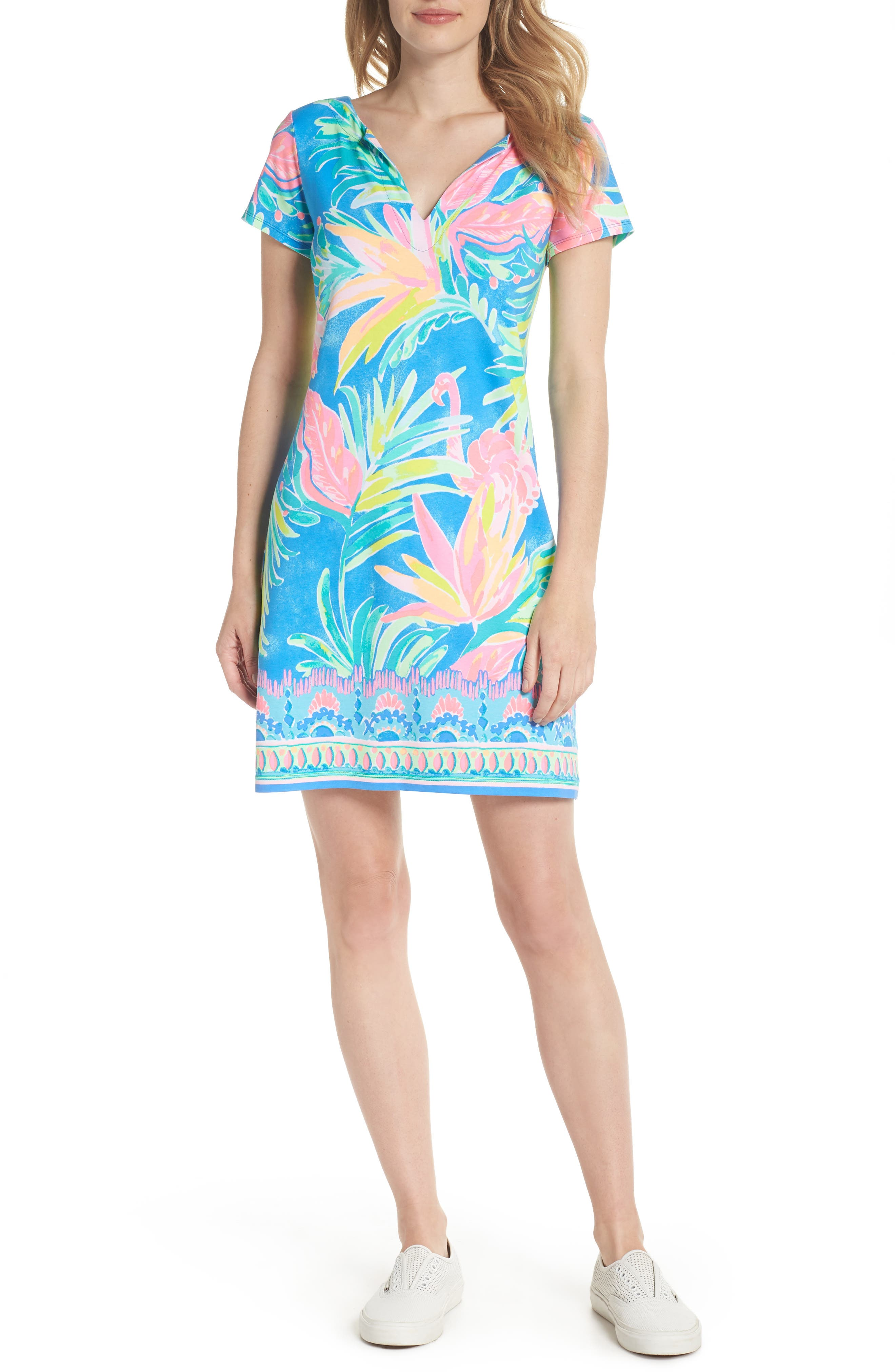 Sophiletta UPF 50+ Dress,                             Alternate thumbnail 5, color,                             420