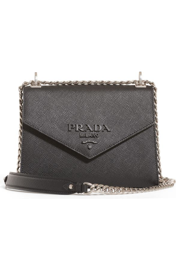 50569e98b978 Prada Monochrome Saffiano Leather Shoulder Bag