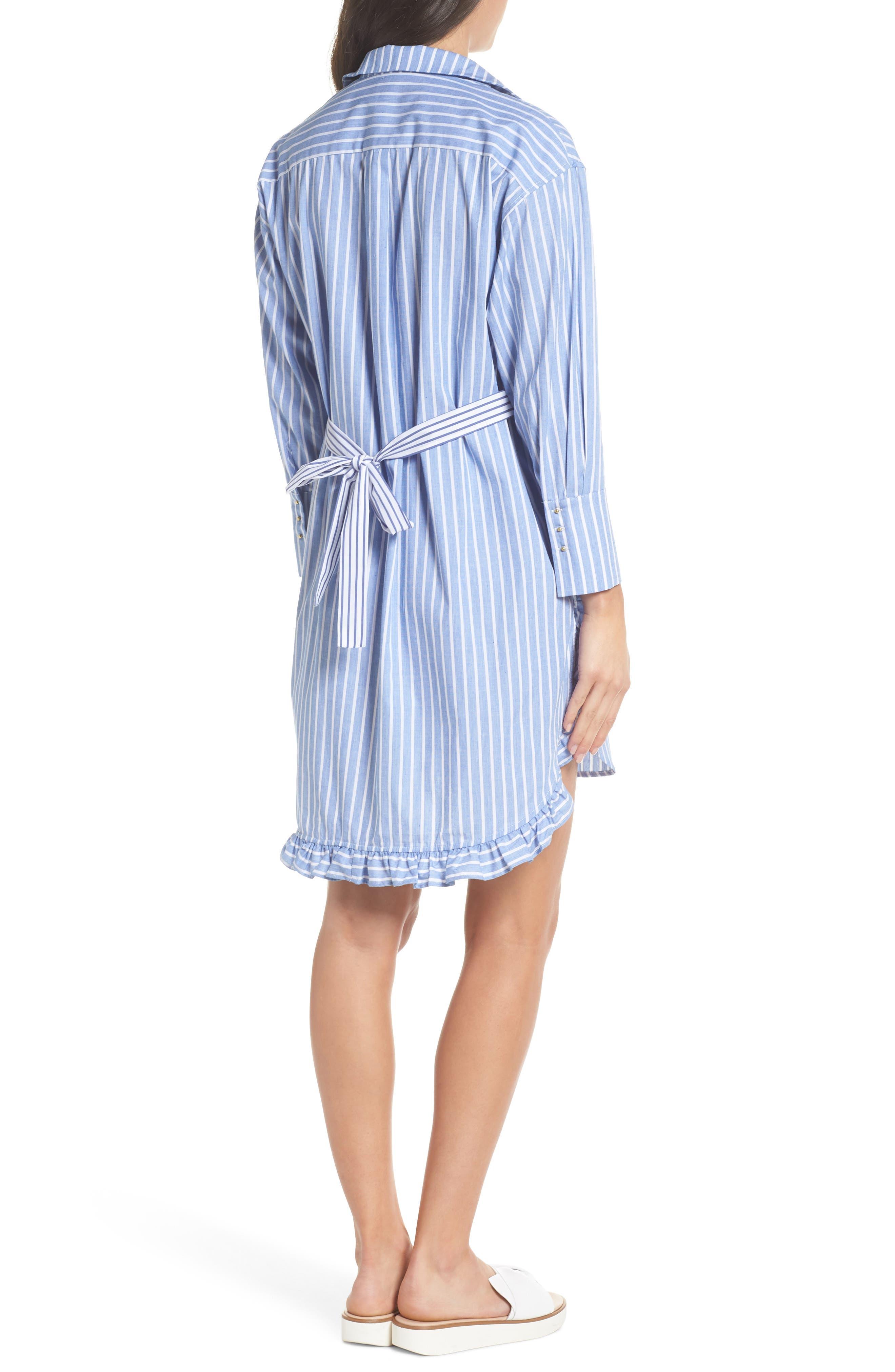 Stripe Shirtdress,                             Alternate thumbnail 2, color,                             465