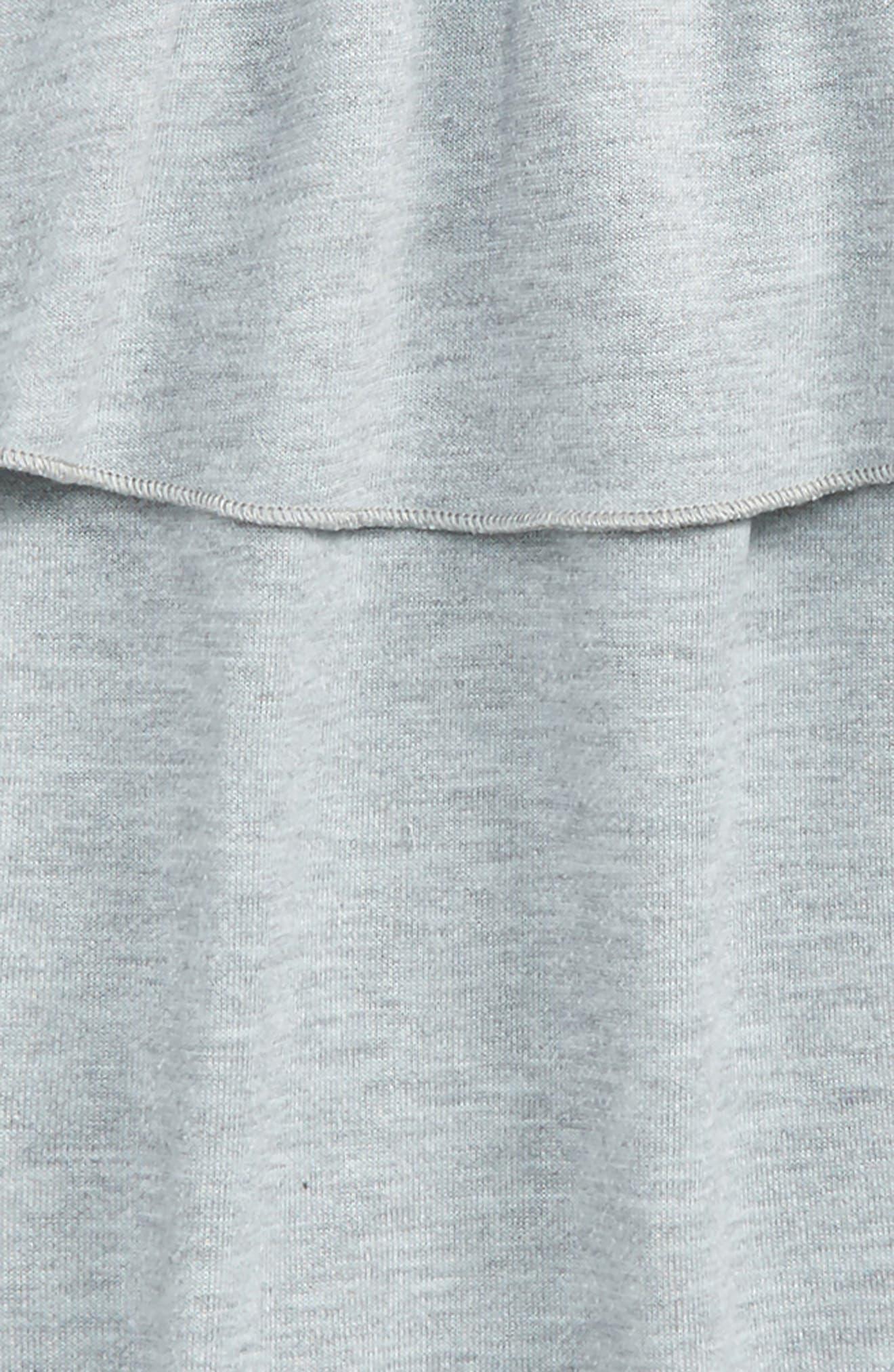 Ruffle French Terry Sweatshirt,                             Alternate thumbnail 2, color,