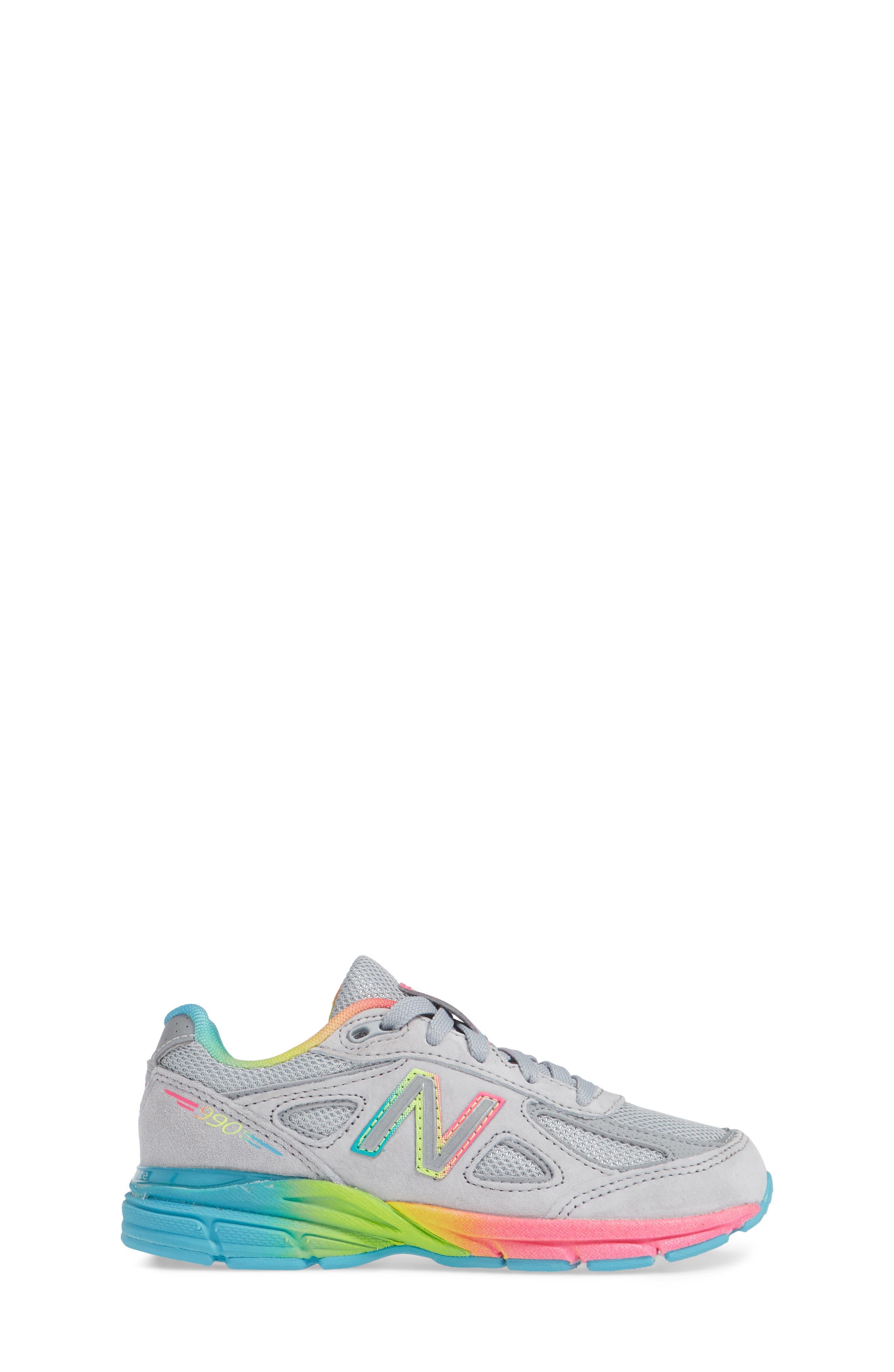 990v4 Sneaker,                             Alternate thumbnail 3, color,                             ATHLETIC GREY/ MULTI