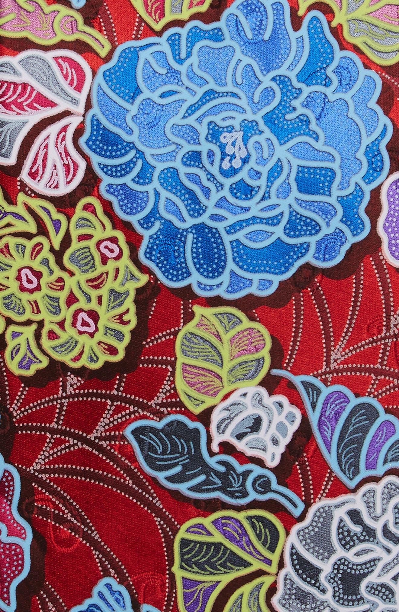 Quindici Floral Silk Tie,                             Alternate thumbnail 6, color,