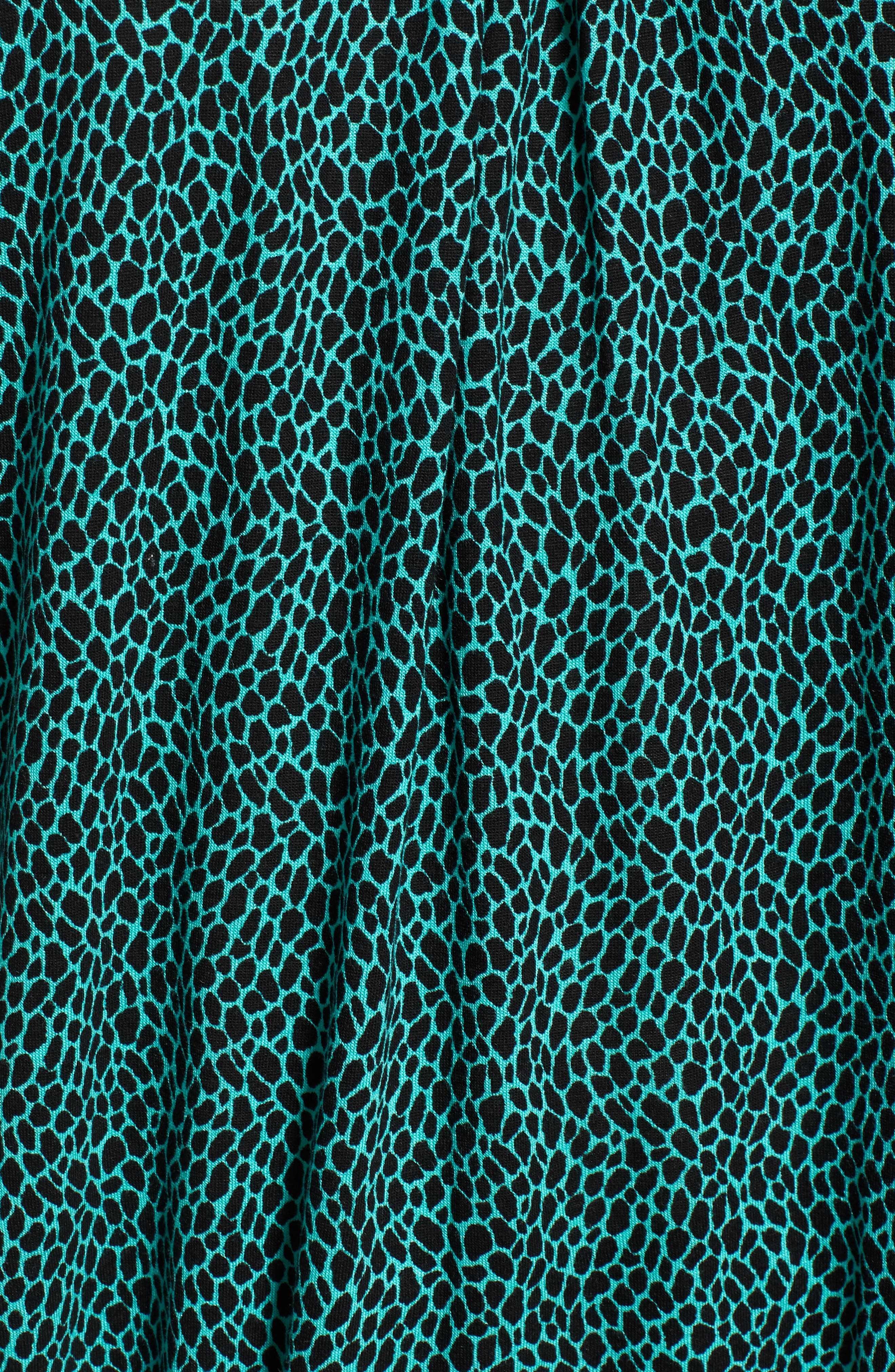 Graphic Leopard Print Peasant Top,                             Alternate thumbnail 6, color,
