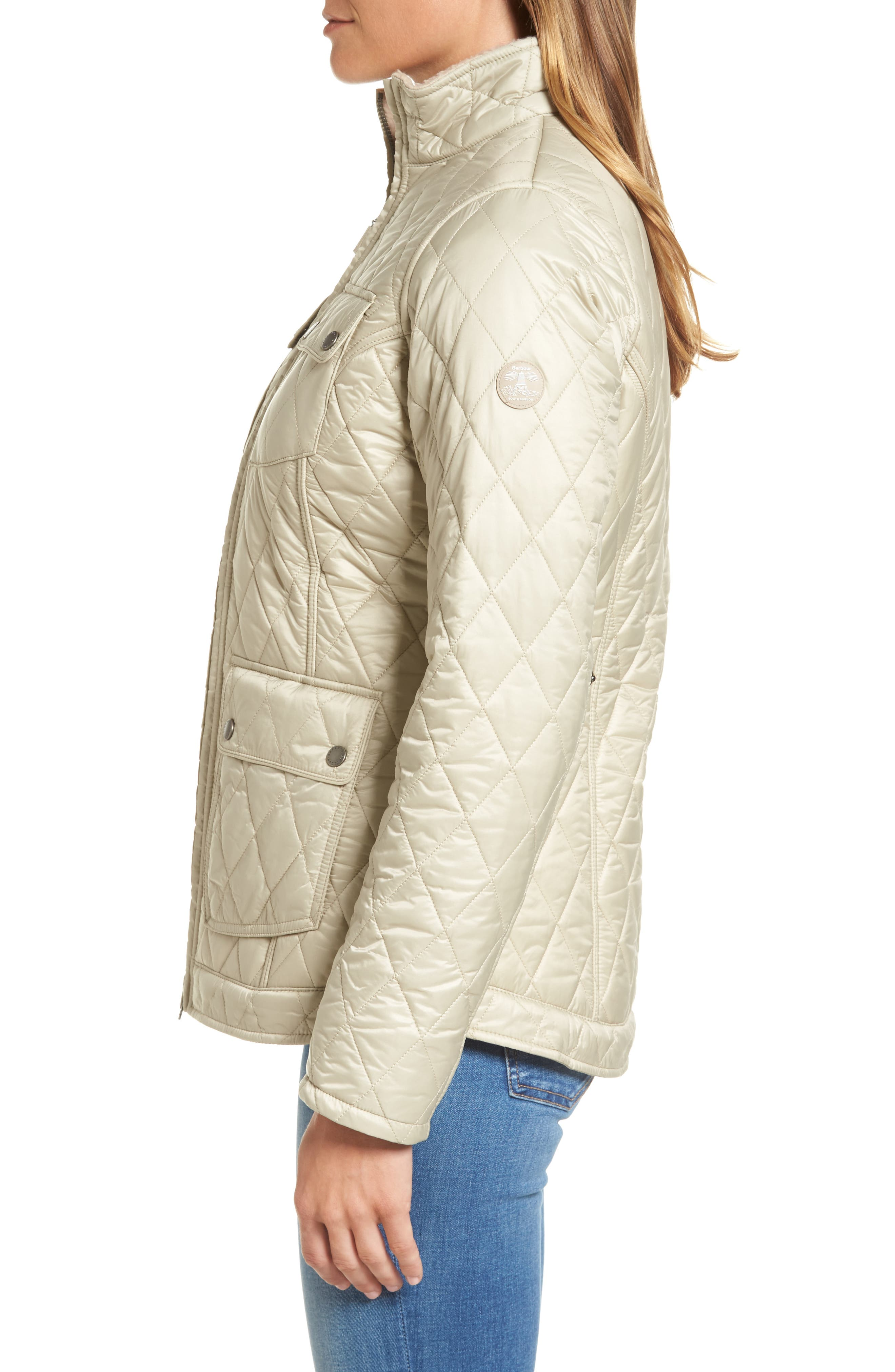 Filey Water Resistant Quilted Jacket,                             Alternate thumbnail 3, color,                             070