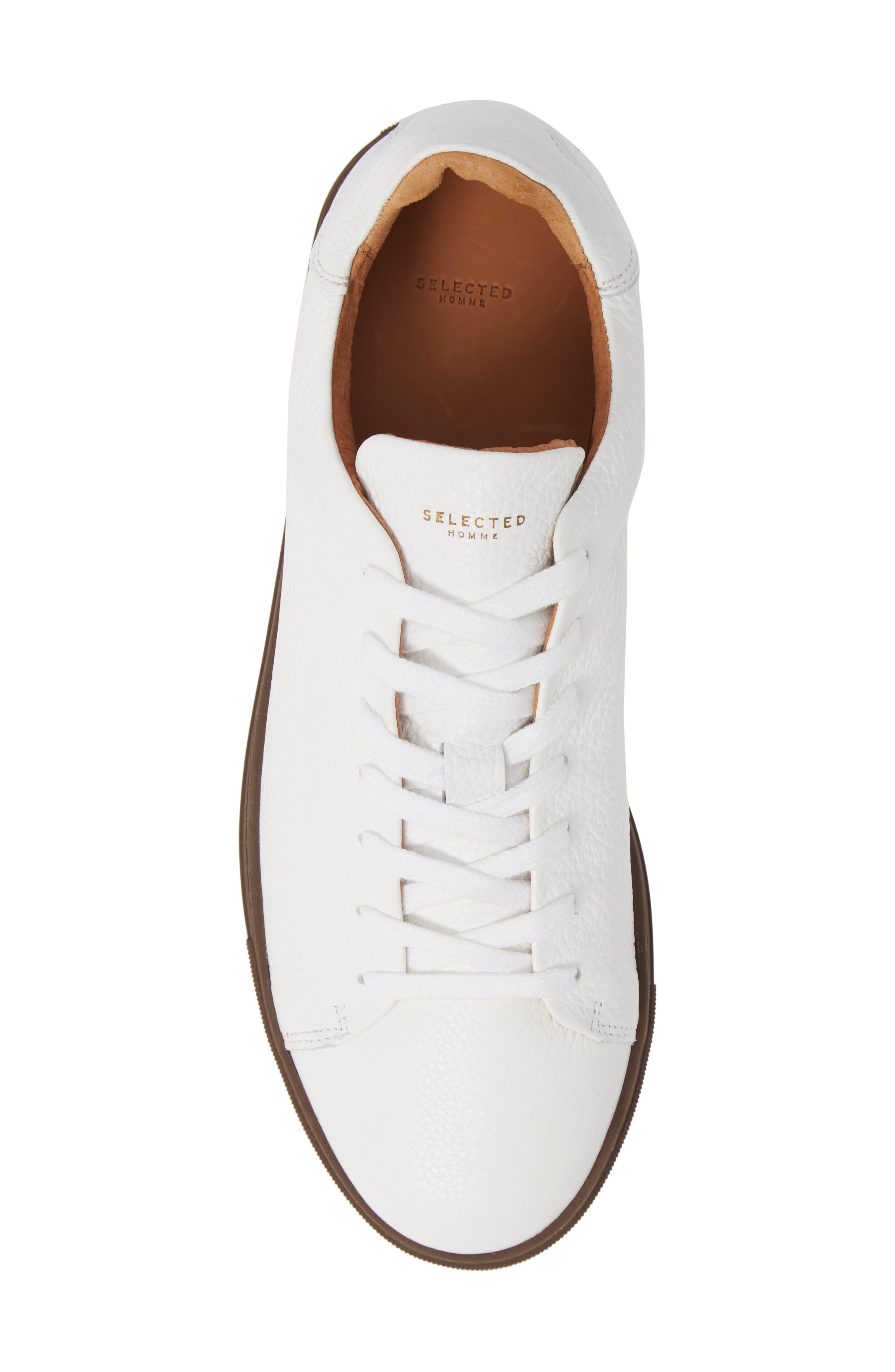 David Sneaker,                             Alternate thumbnail 5, color,                             WHITE/ BURGUNDY SOLE