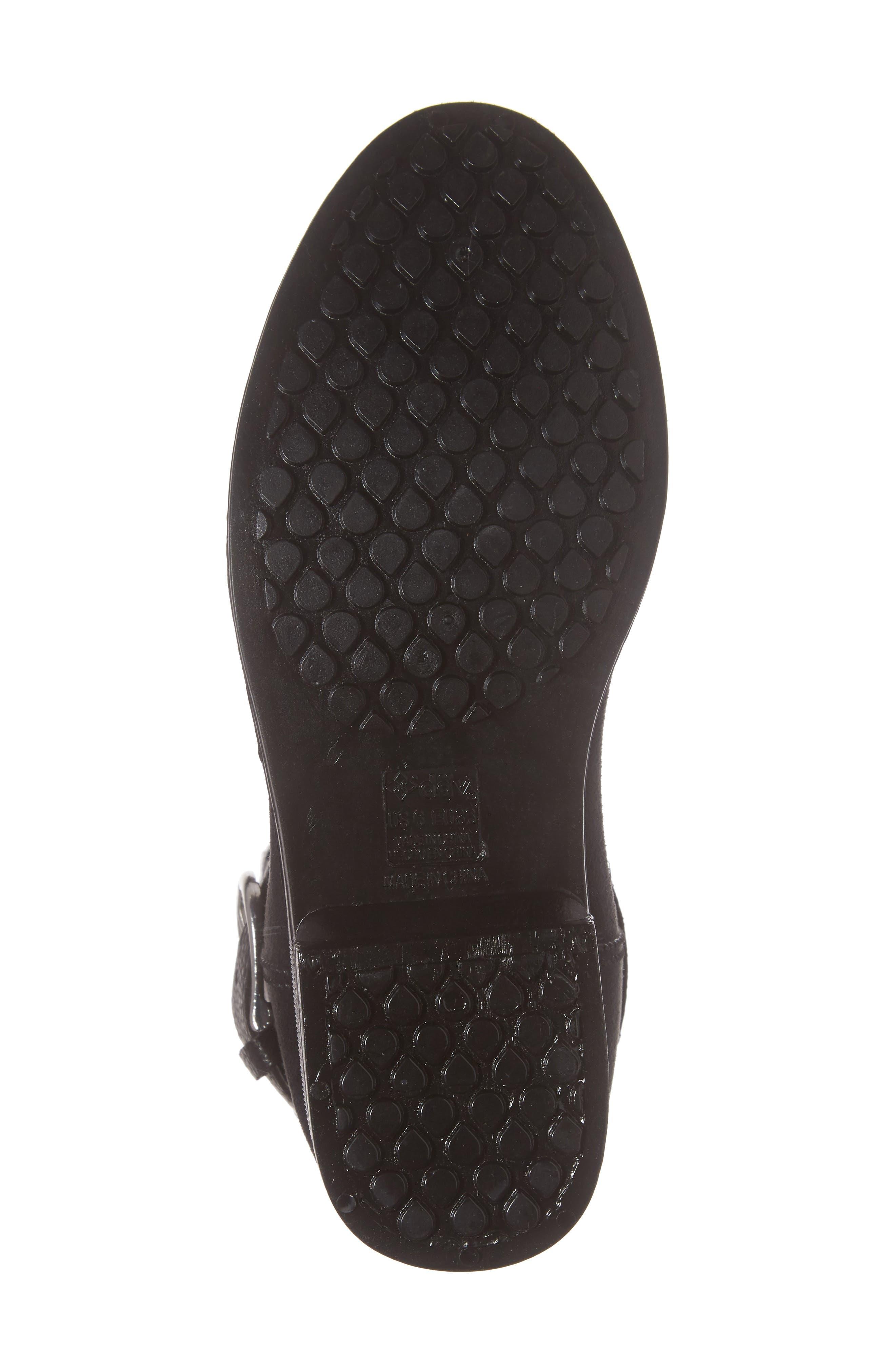 Bristol Water Resistant Boot,                             Alternate thumbnail 6, color,                             BLACK