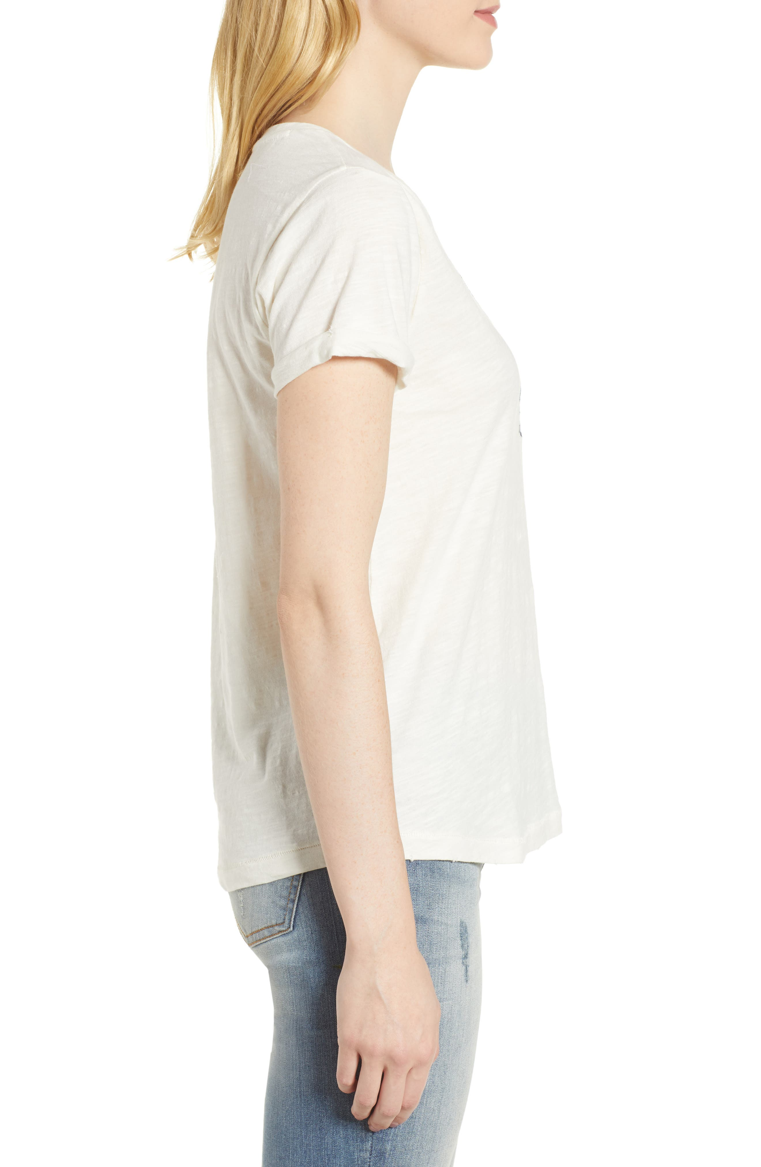 Embroidered Palm Tee,                             Alternate thumbnail 3, color,                             110