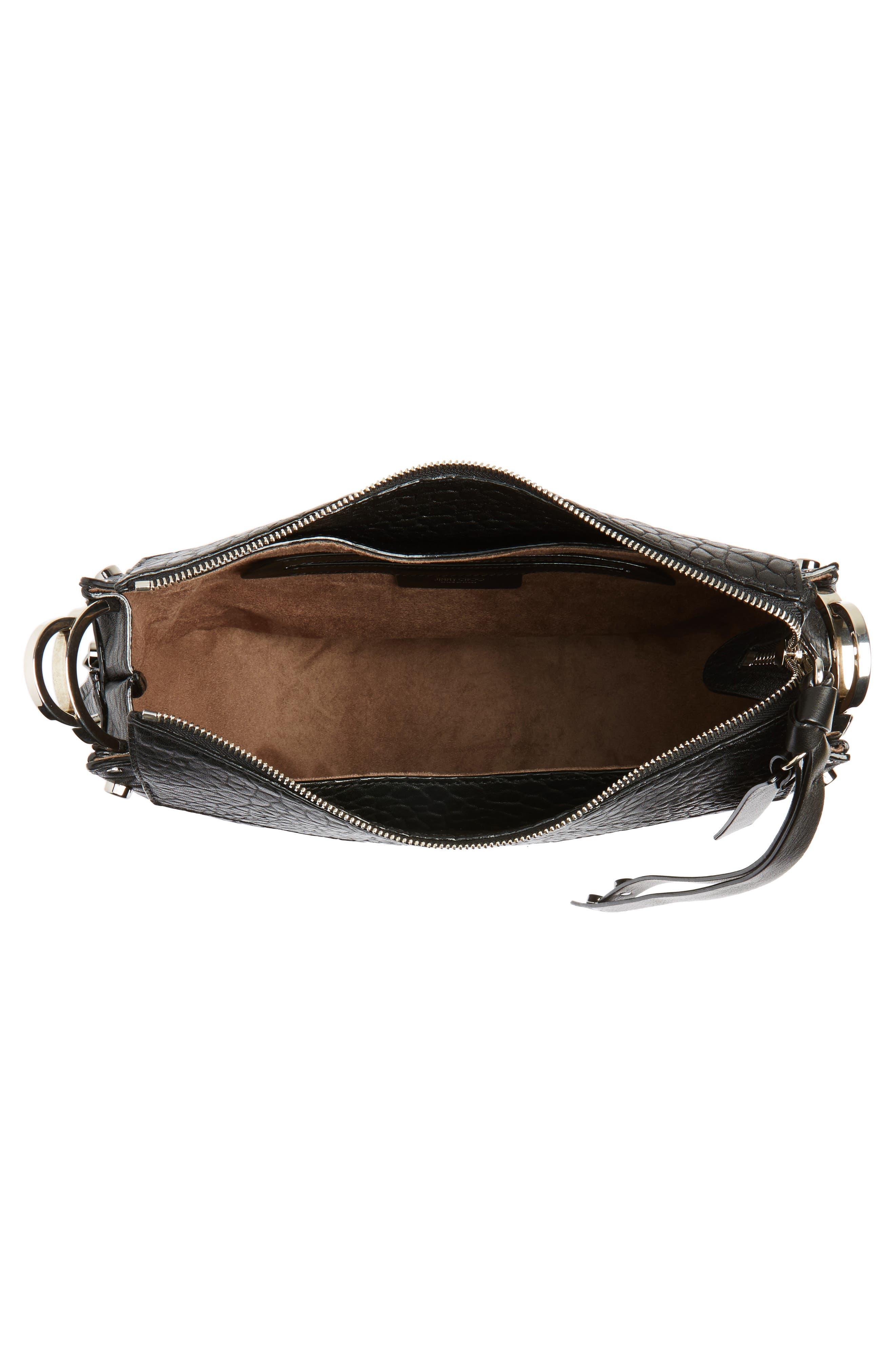 Artie Studded Leather Hobo Bag,                             Alternate thumbnail 4, color,                             001