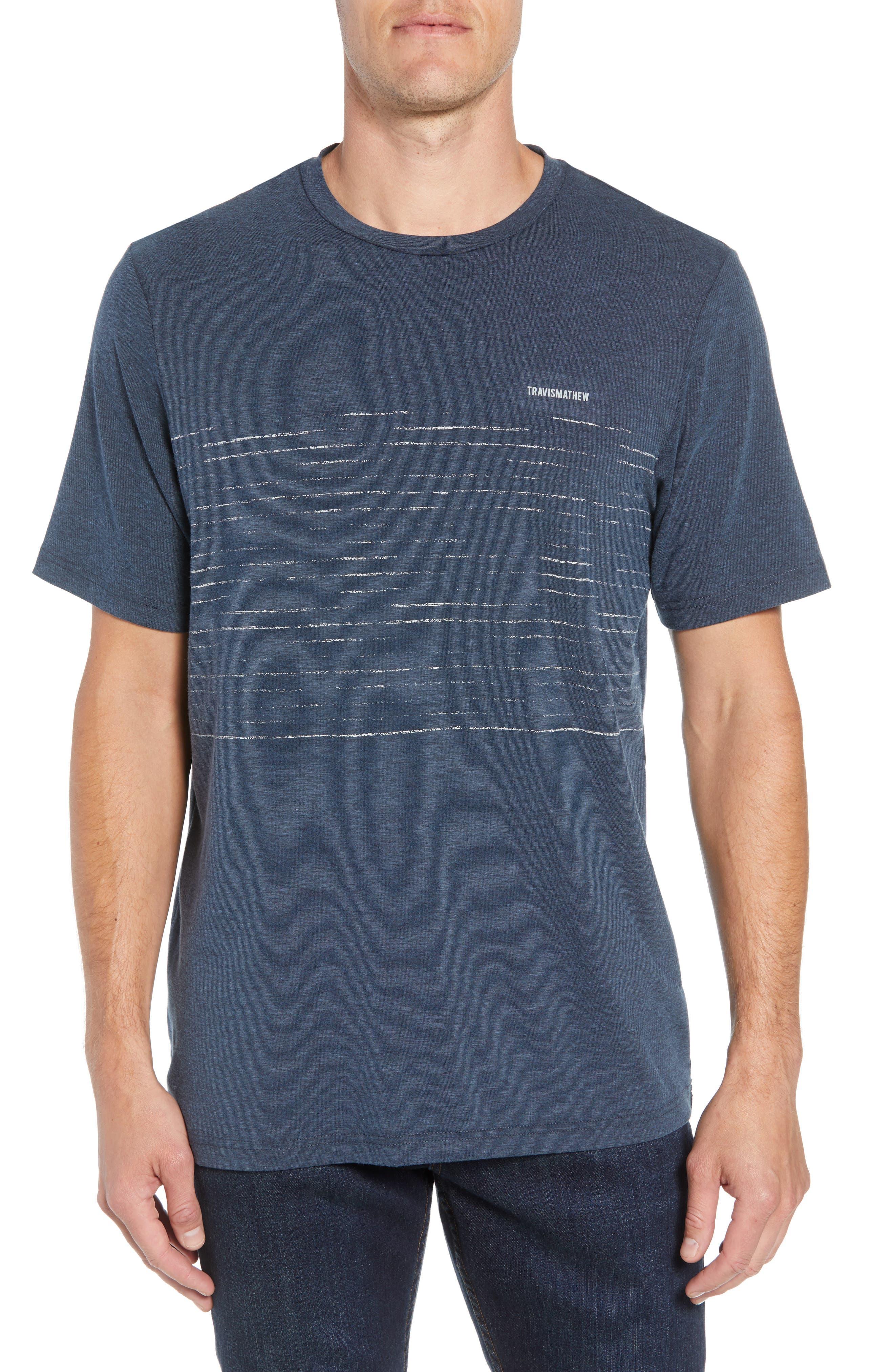 Laze T-Shirt,                         Main,                         color, TRUE NAVY/ BLACK