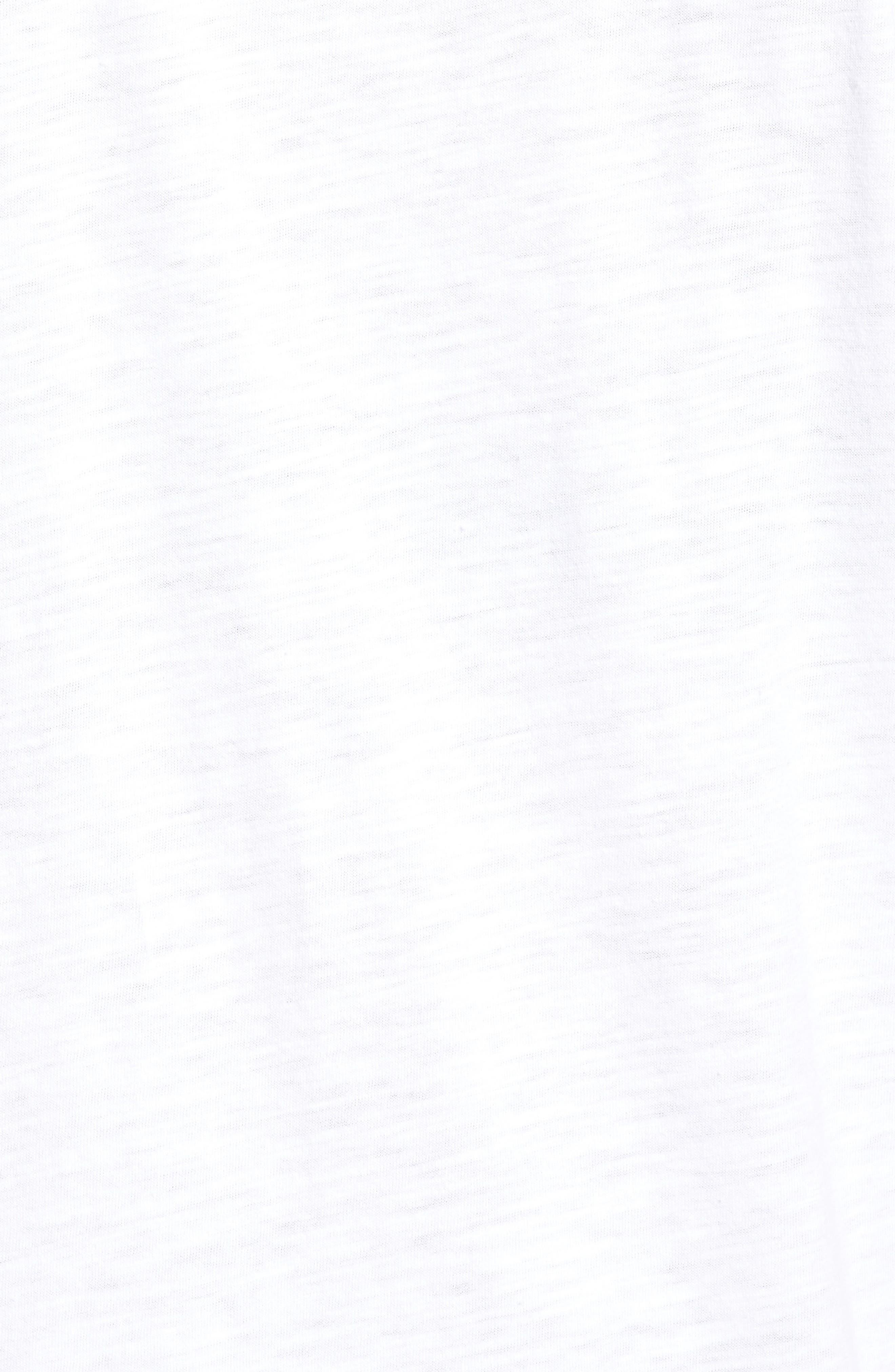 U-Neck Organic Cotton Tee,                             Alternate thumbnail 5, color,                             100
