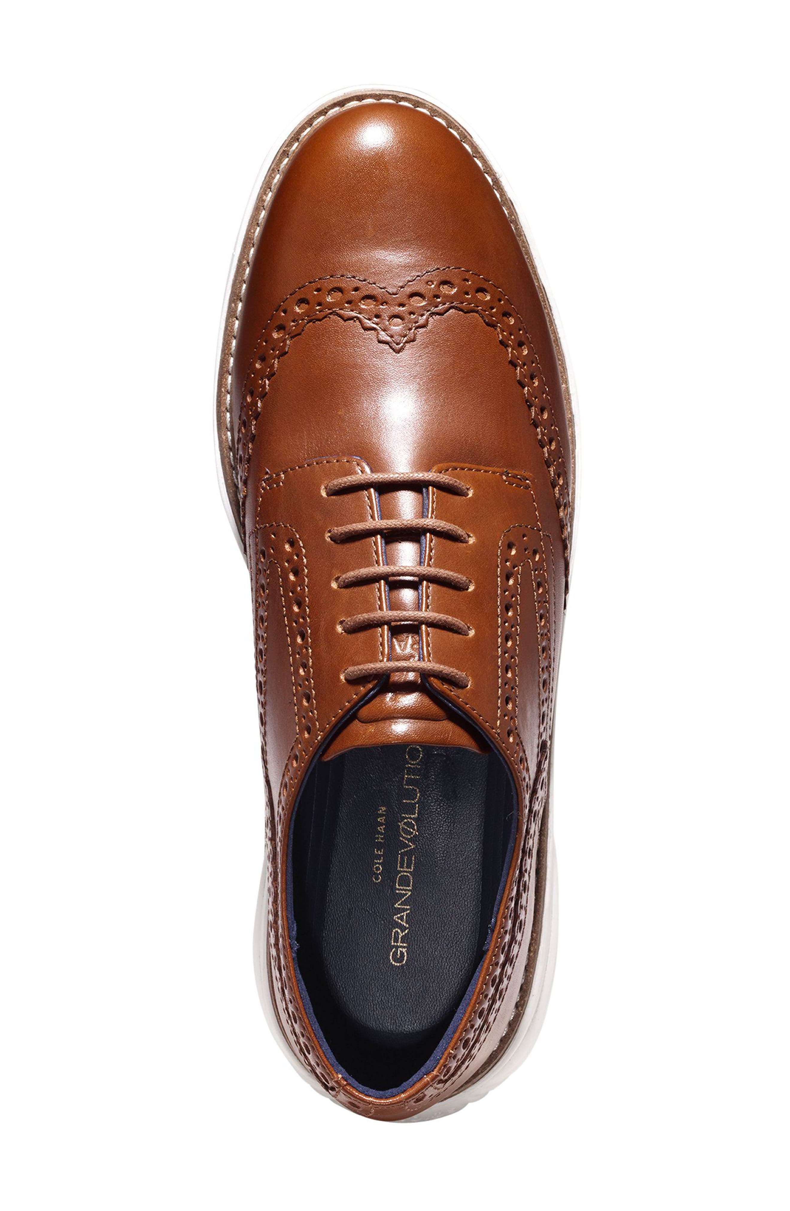Grandevolution Shortwing Oxford Sneaker,                             Alternate thumbnail 4, color,                             WOODBURY LEATHER