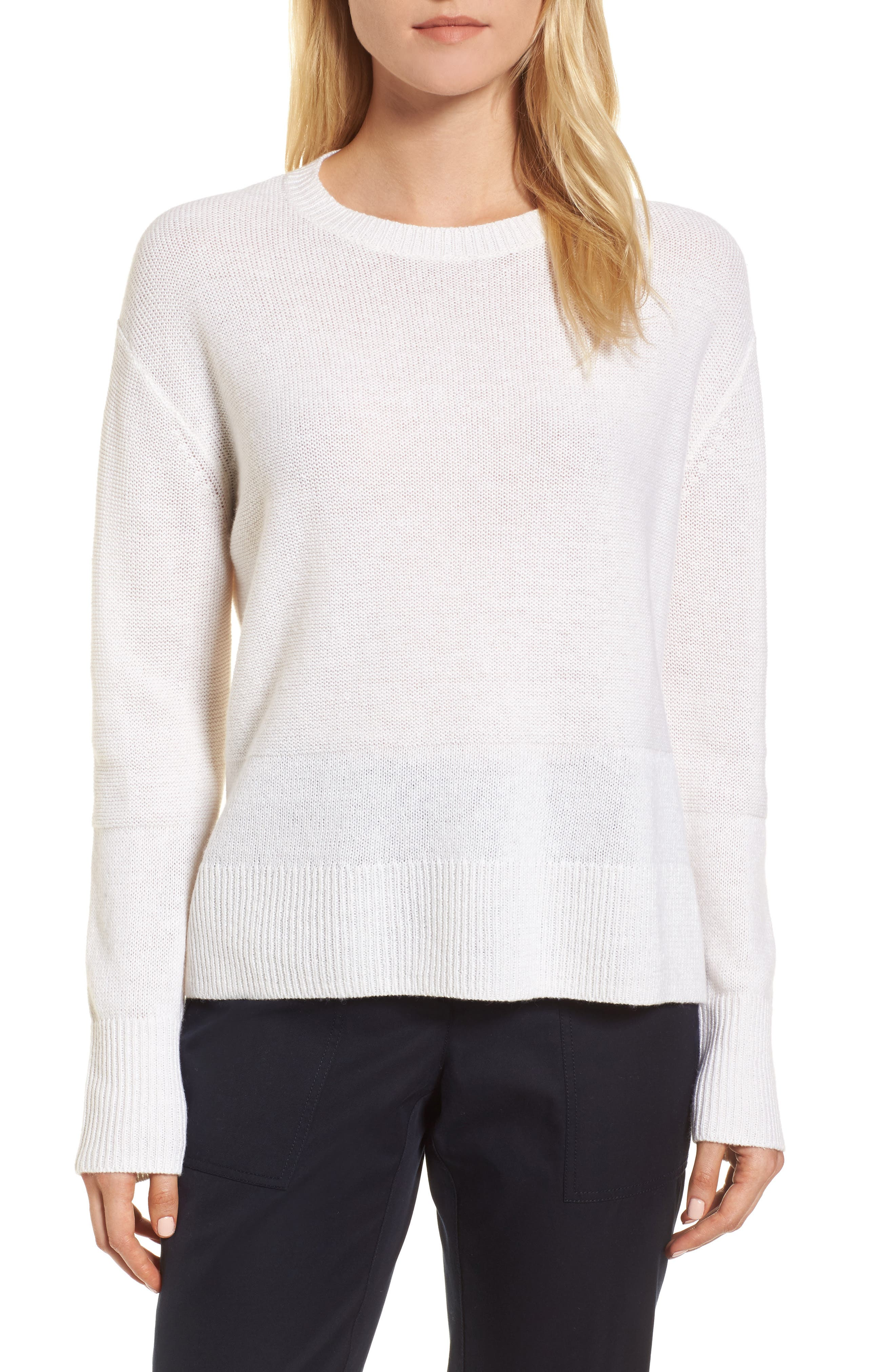 Linen & Cashmere Sweater,                             Main thumbnail 2, color,