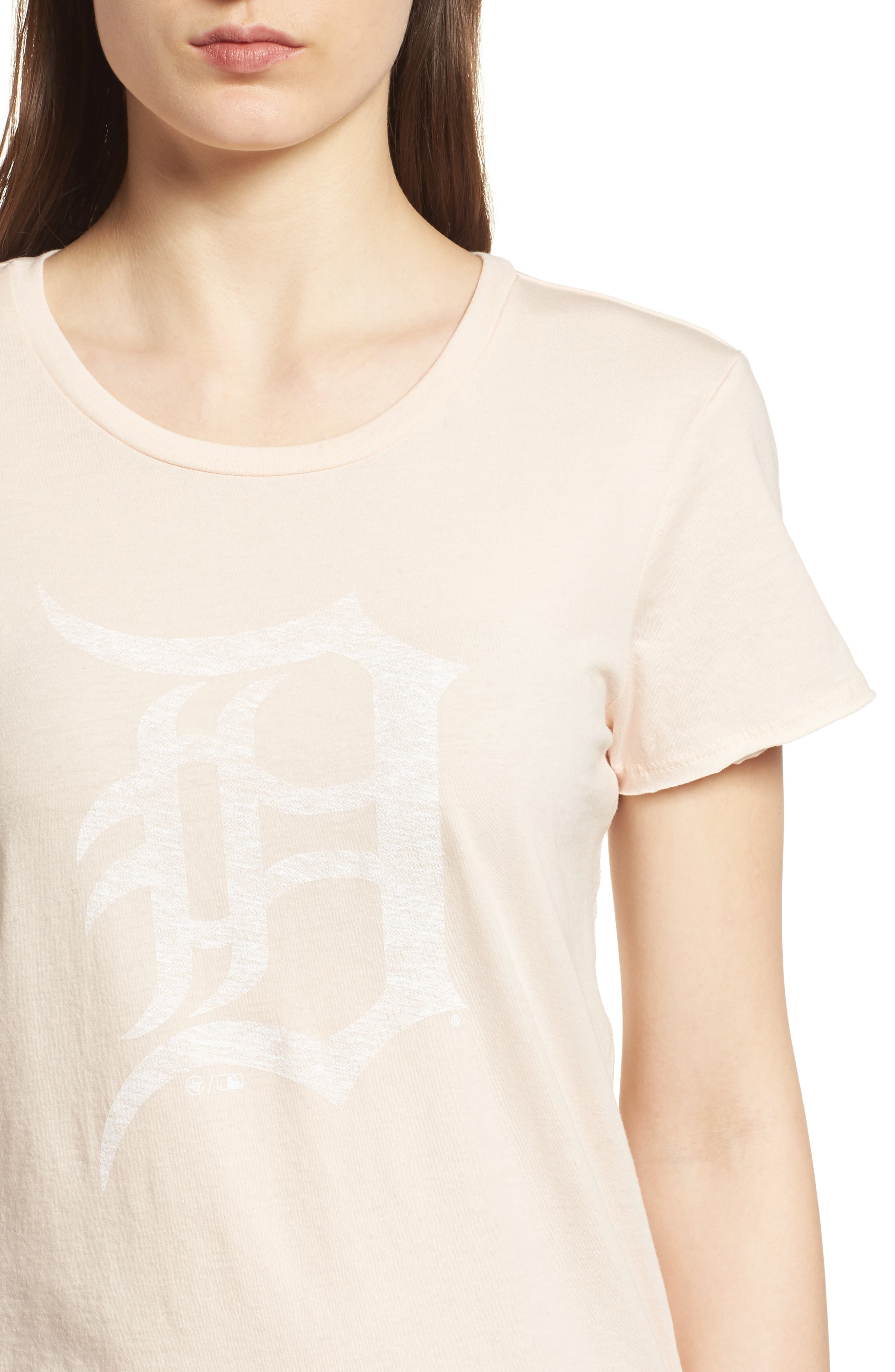 Detroit Tigers Fader Letter Tee,                             Alternate thumbnail 4, color,