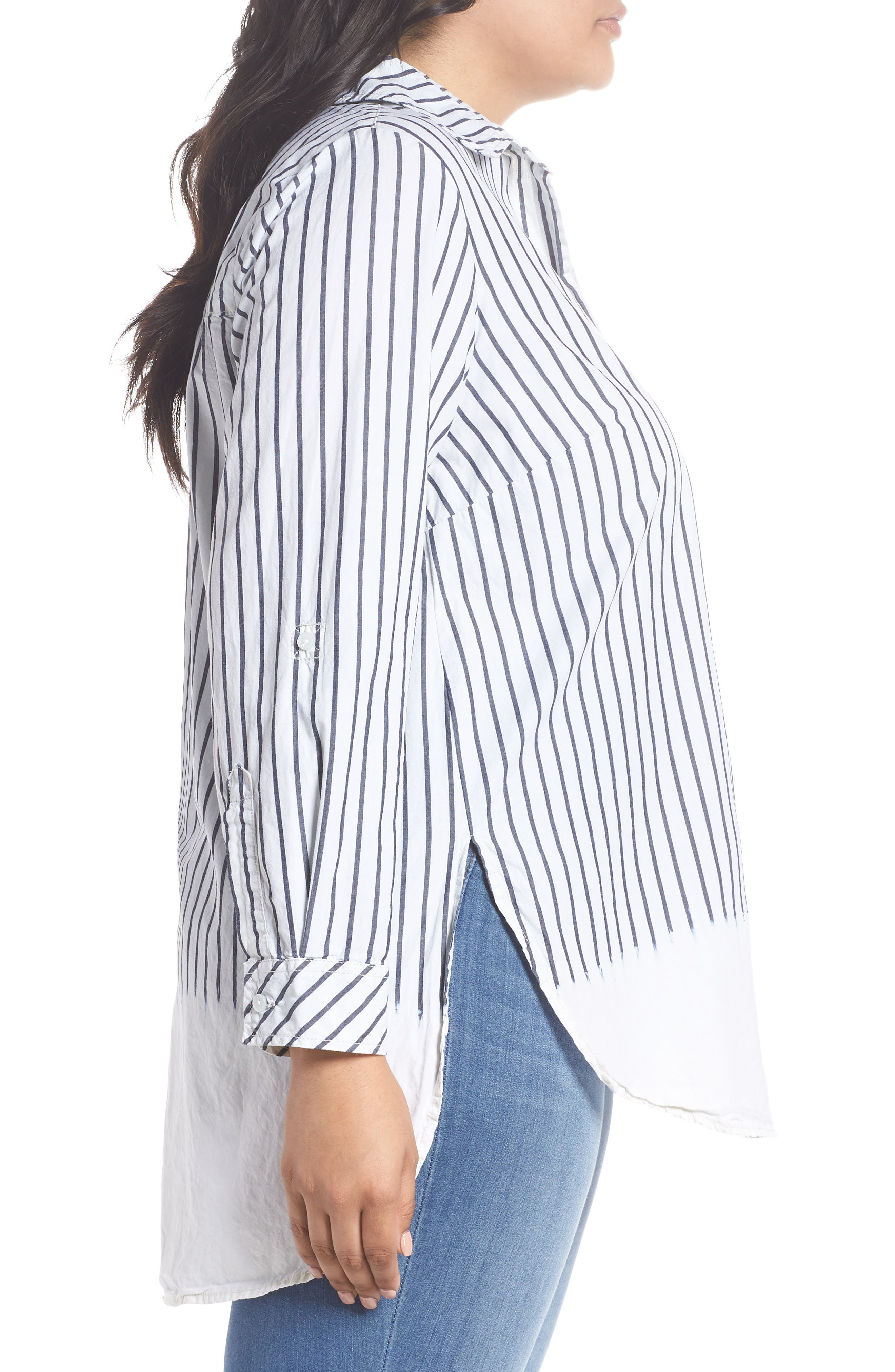 Miles Stripe Maxi Tunic Top,                             Alternate thumbnail 3, color,                             110