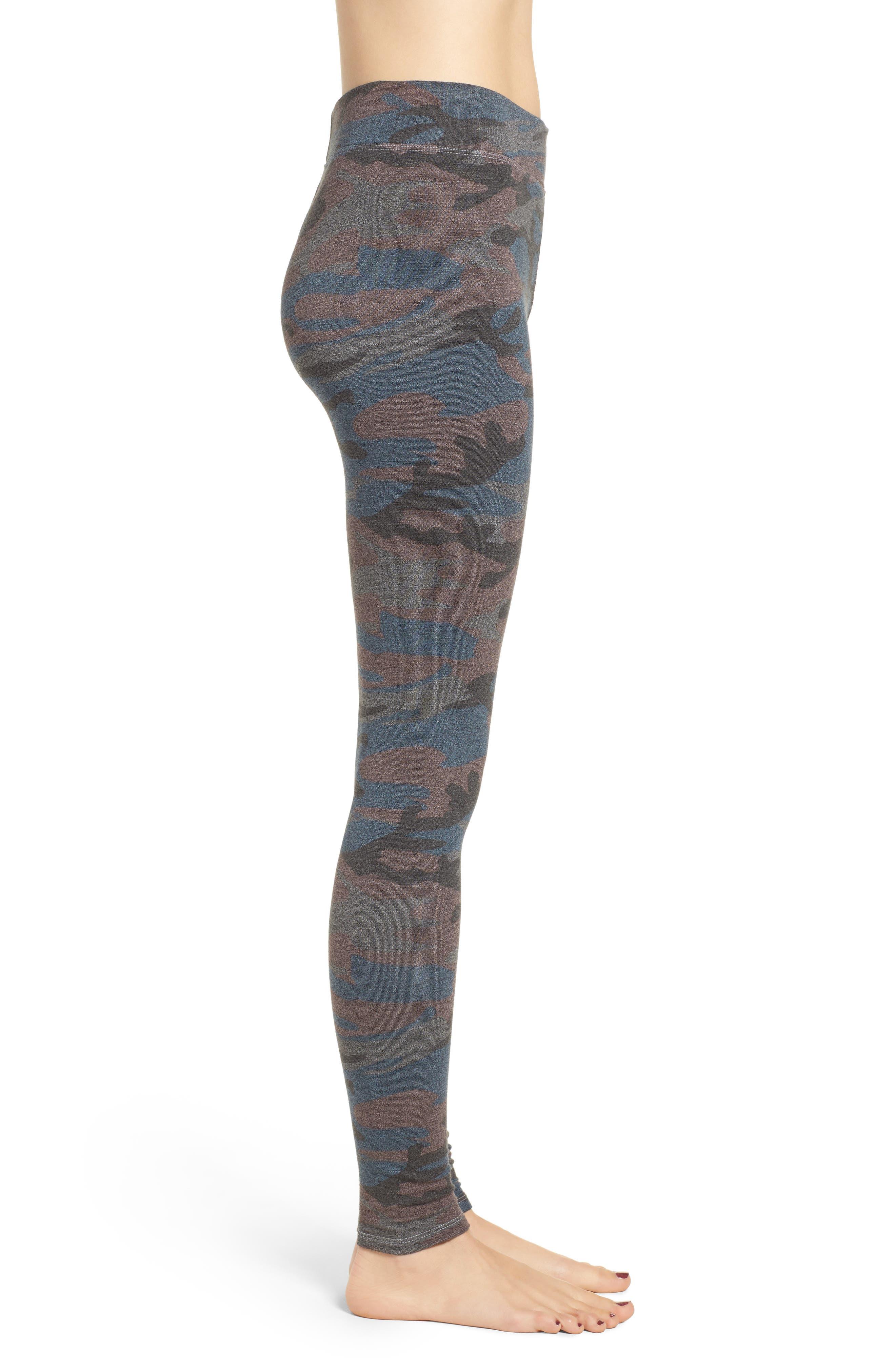 SUNDRY,                             Camo Yoga Pants,                             Alternate thumbnail 3, color,                             020