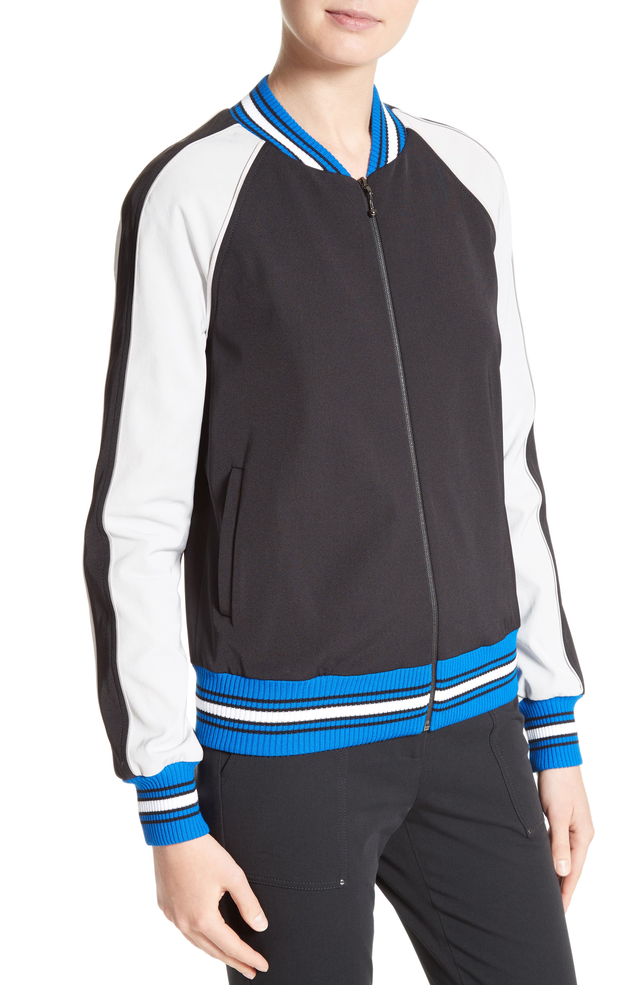 Stretch Tech Twill Bomber,                             Alternate thumbnail 4, color,                             001