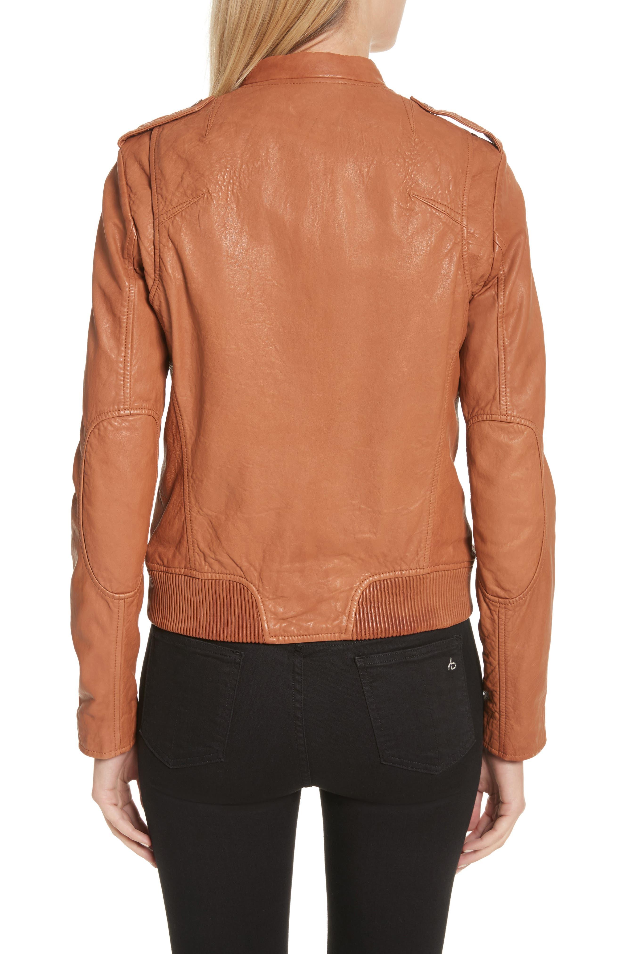 Lyon Leather Jacket,                             Alternate thumbnail 2, color,                             200