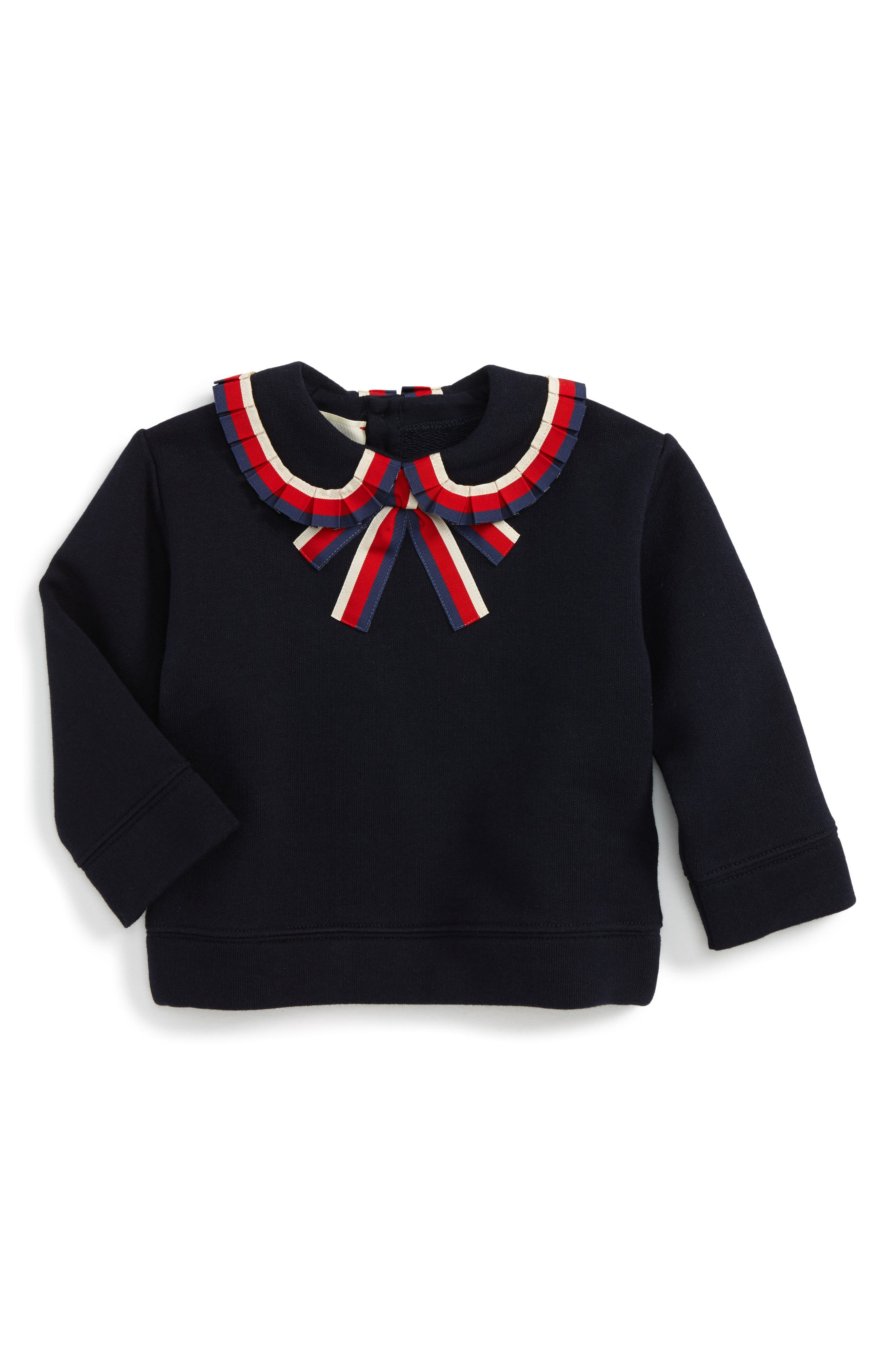 Sylvie Ribbon Trim Sweatshirt,                         Main,                         color, 493