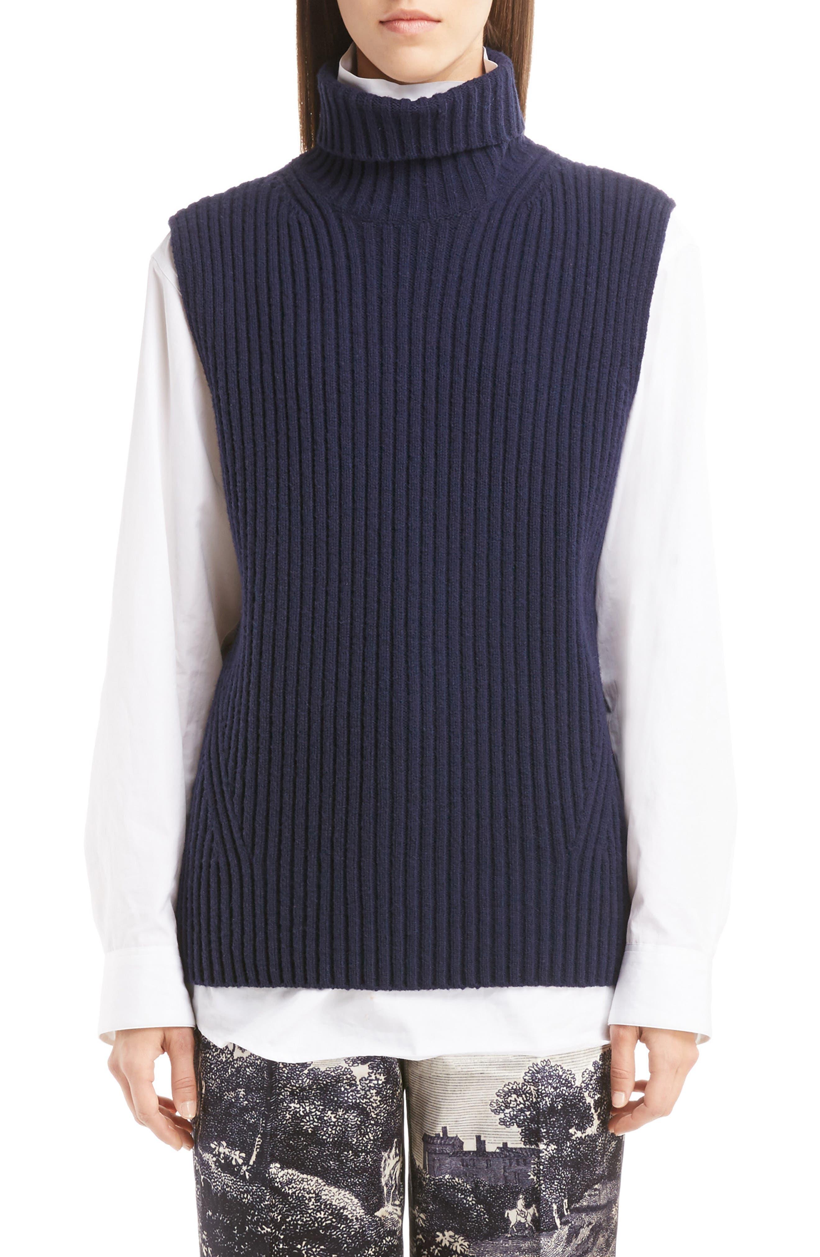 Sleeveless Turtleneck Sweater,                             Main thumbnail 1, color,                             410